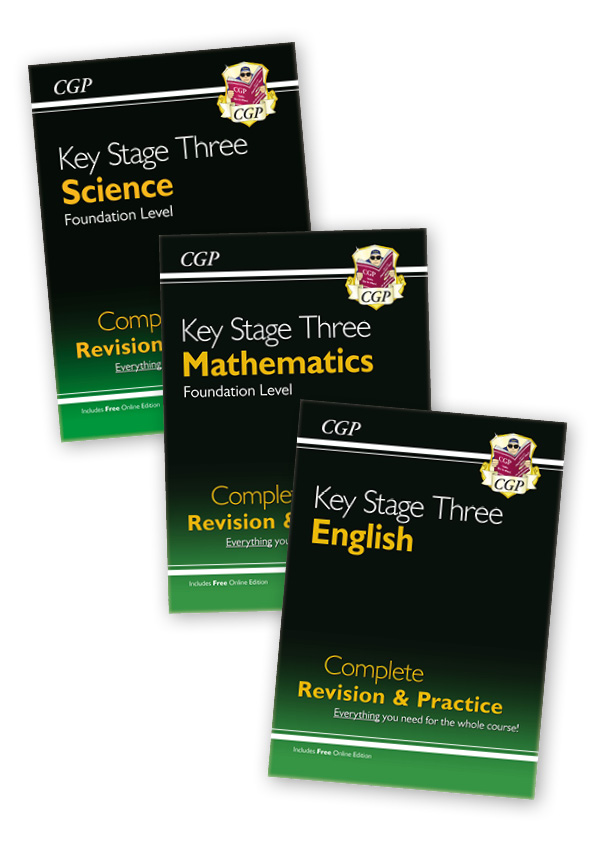 EMFSCUB31 - Key Stage Three Complete Revision & Practice Bundle - Foundation