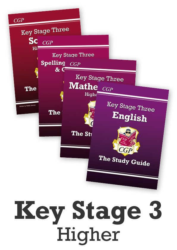 EMHSTBB31 - Key Stage Three Home Learning Essentials: Study Guide Bundle (Higher) - Ages 11-14