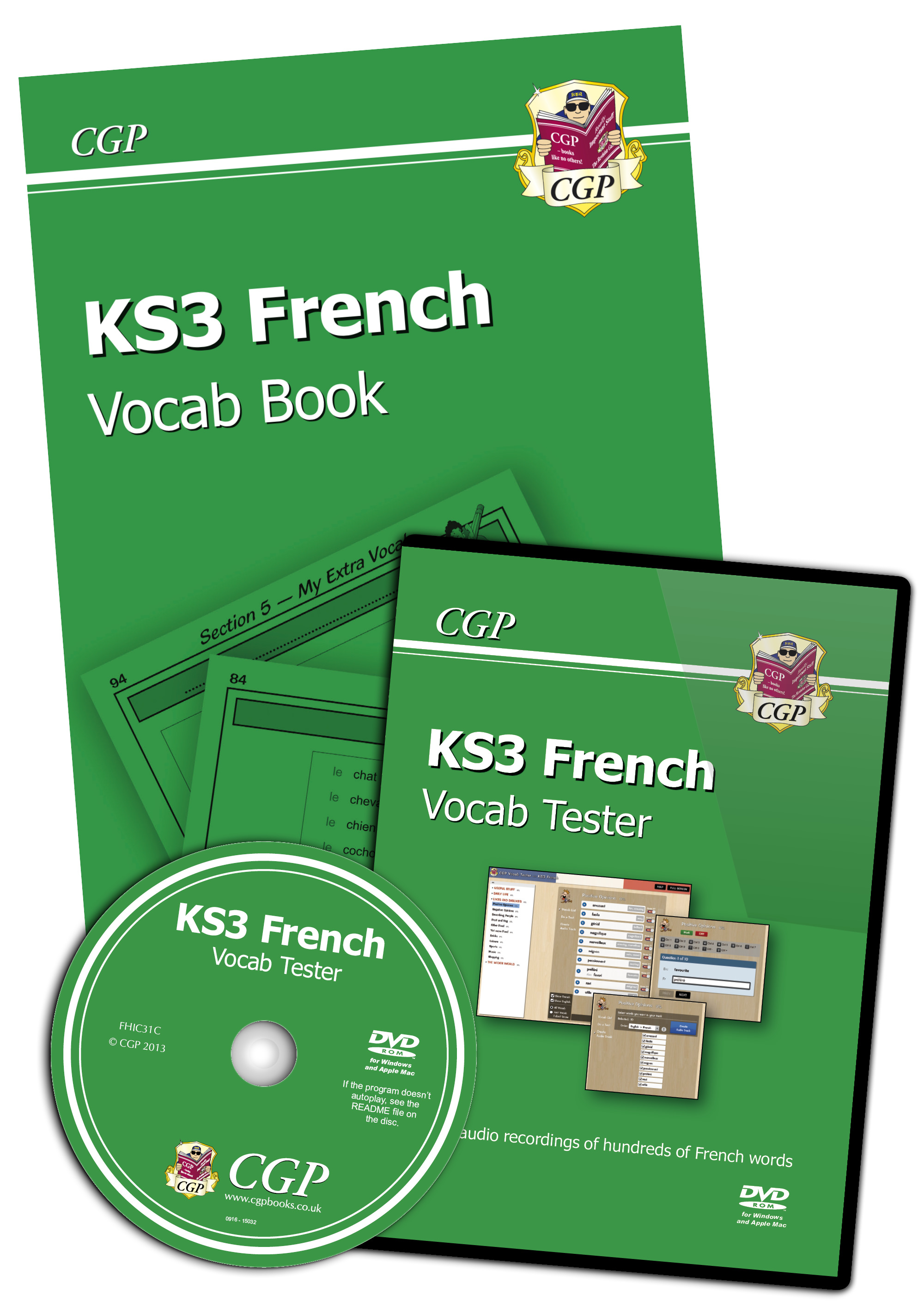 FHIC31 - KS3 French Interactive Vocab Tester - DVD-ROM and Vocab Book