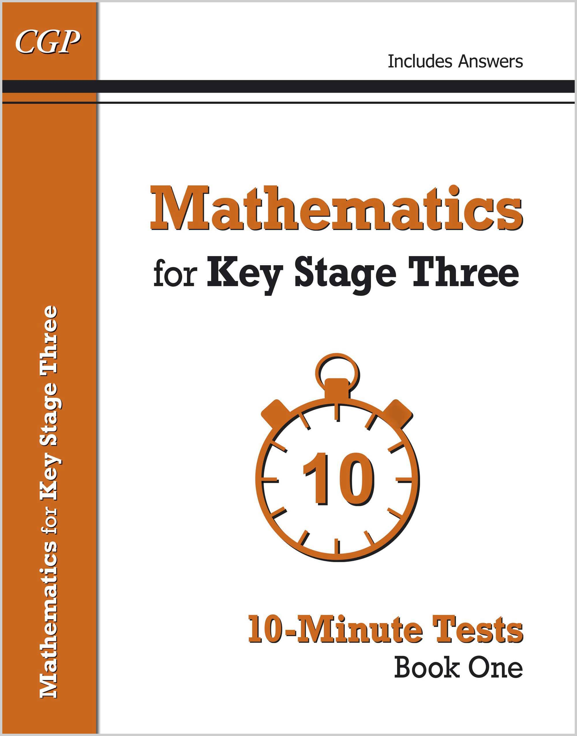 M1XP31DK - Mathematics for KS3: 10-Minute Tests - Book 1 (including Answers)