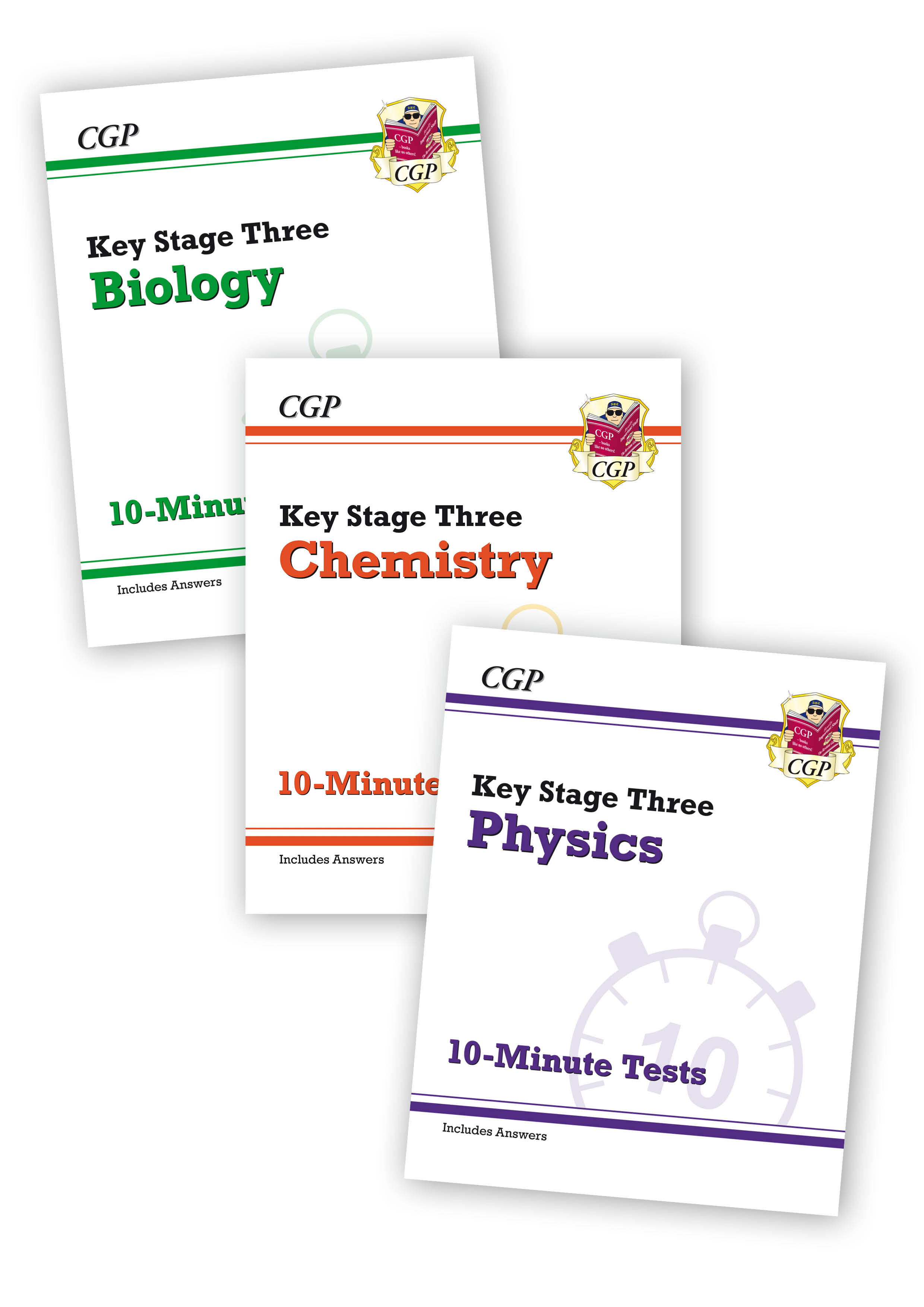 SCXPB31 - New KS3 Science 10-Minute Tests Complete Bundle: Biology, Chemistry & Physics