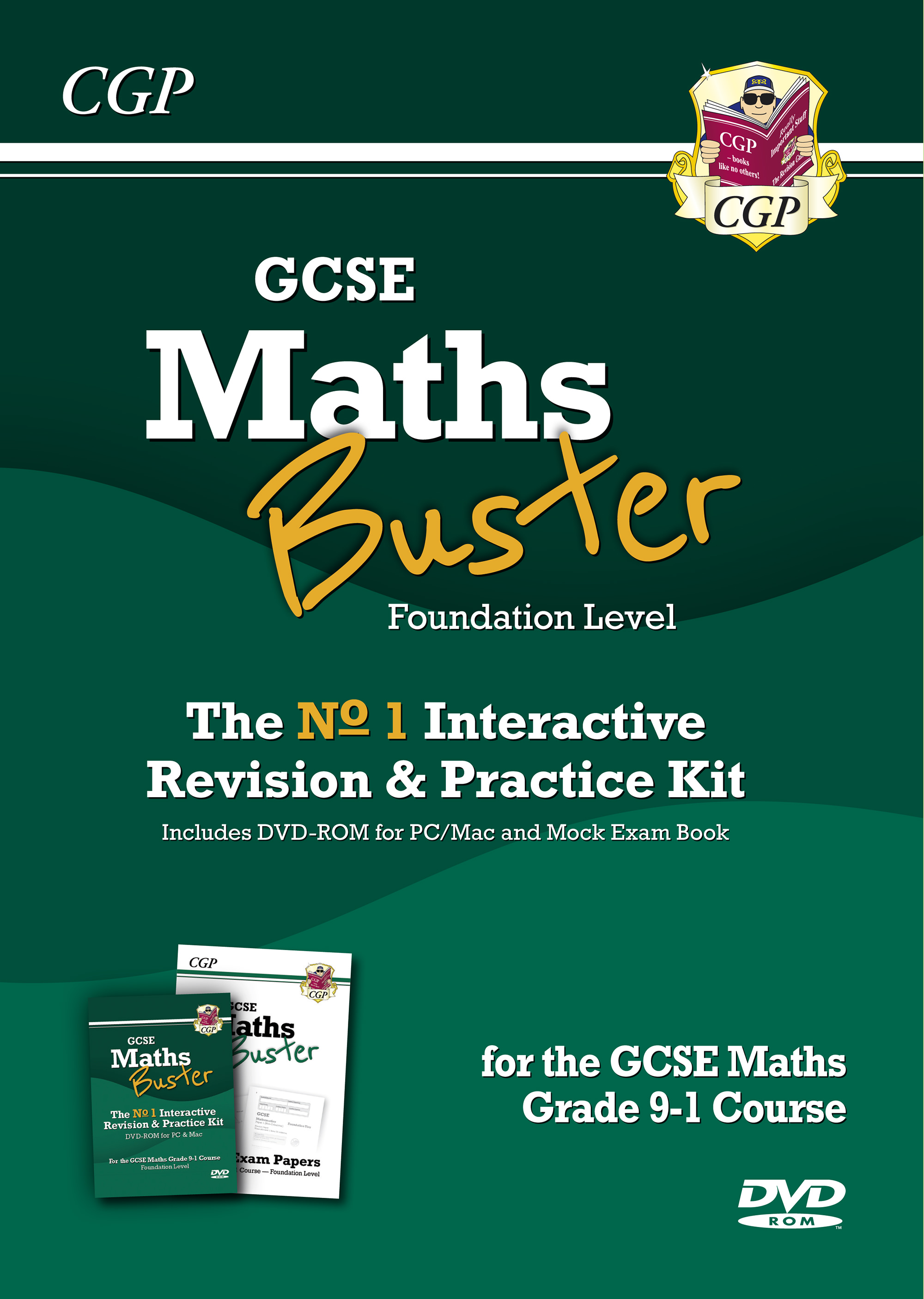 42MBFB3 - MathsBuster: GCSE Maths Interactive Revision (Grade 9-1 Course) Foundn - DVD&Exam Practice