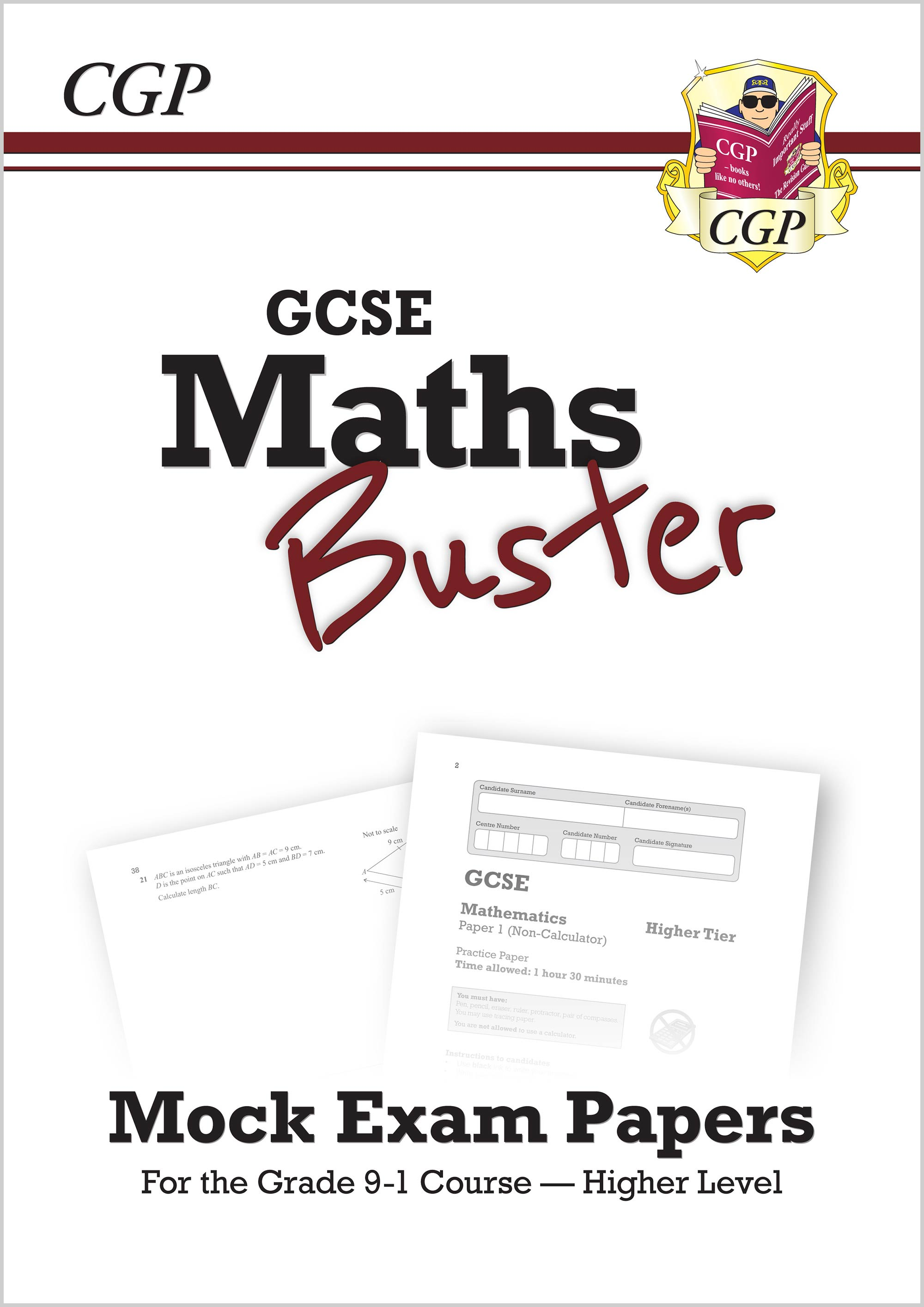 42MBHQ - MathsBuster: GCSE Maths Mock Exam Paper Book (Grade 9-1 Course) - Higher