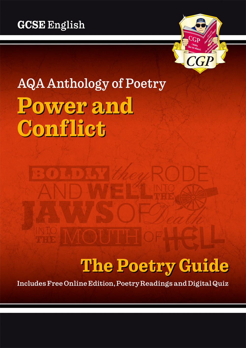ACHR44 - New GCSE English AQA Poetry Guide - Power & Conflict Anthology inc. Online Edition, Audio &