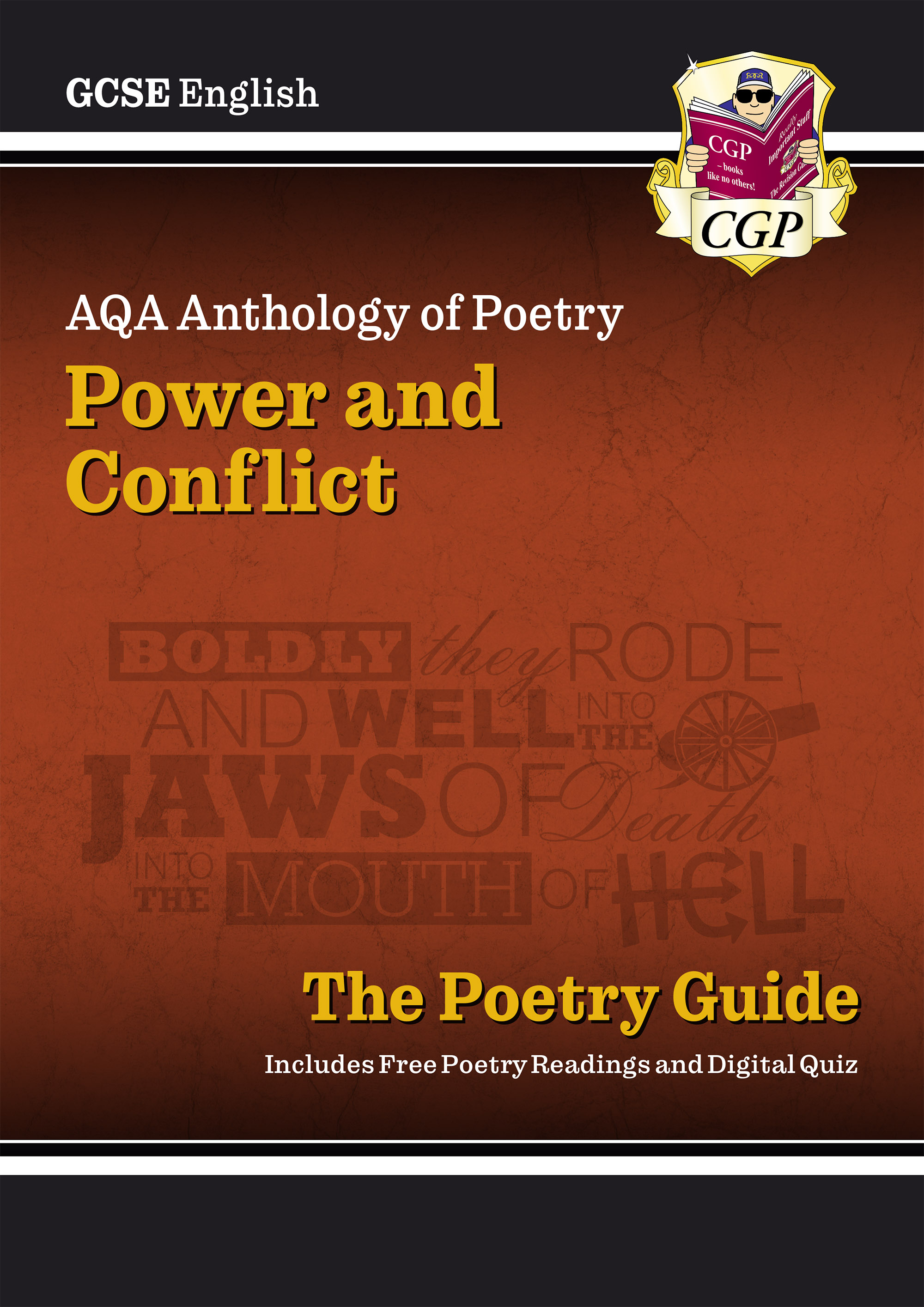 ACHR44D - New GCSE English AQA Poetry Guide - Power & Conflict Anthology Online Edition, Audio & Qui
