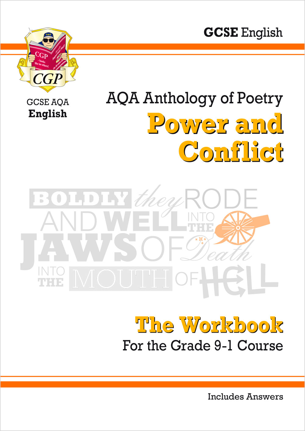 ACHW42 - GCSE English Literature AQA Poetry Workbook: Power & Conflict Anthology (includes Answers)