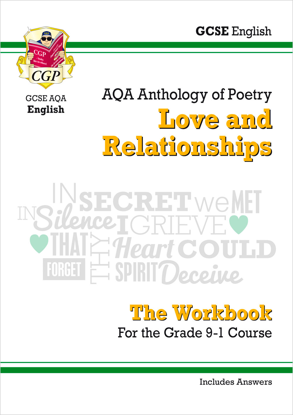 ARHW43 - GCSE English Literature AQA Poetry Workbook: Love & Relationships Anthology (includes Answe