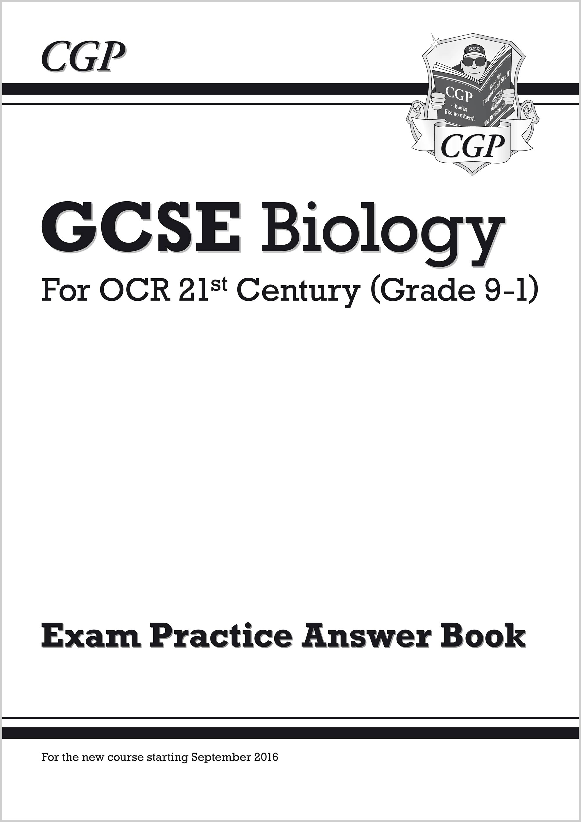B2QA41 - GCSE Biology: OCR 21st Century Answers (for Exam Practice Workbook)