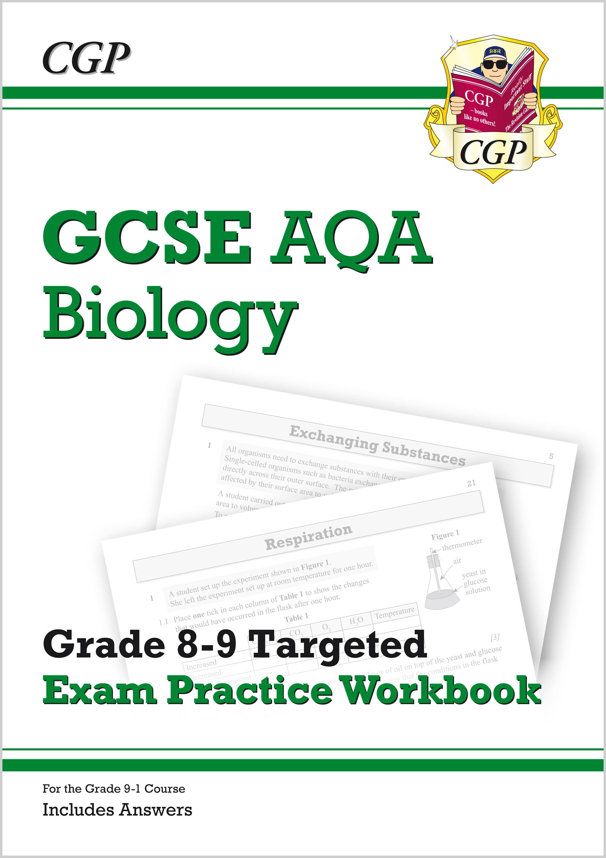 BA9Q41 - GCSE Biology AQA Grade 8-9 Targeted Exam Practice Workbook (includes Answers)