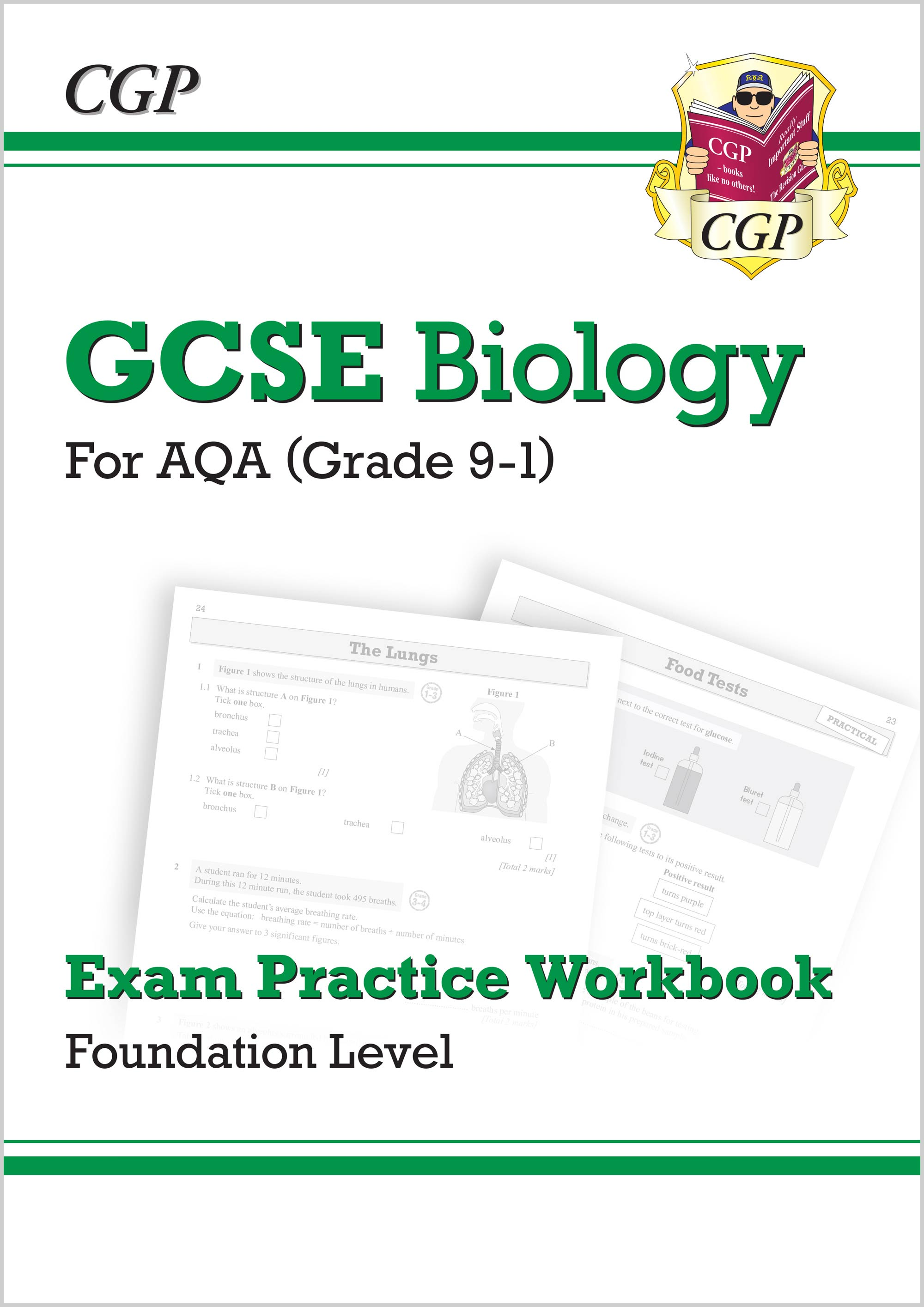 BAFQ41 - New Grade 9-1 GCSE Biology: AQA Exam Practice Workbook - Foundation