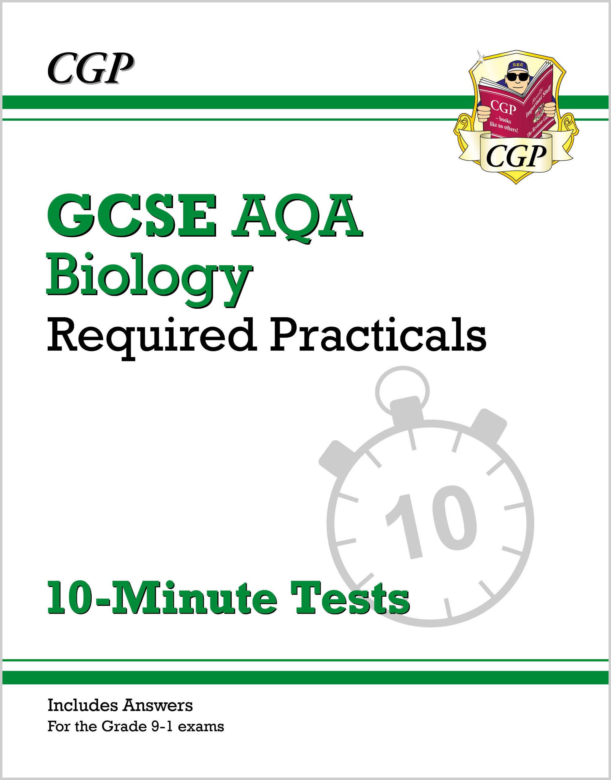 BAPRXP41 - New Grade 9-1 GCSE Biology: AQA Required Practicals 10-Minute Tests (includes Answers)