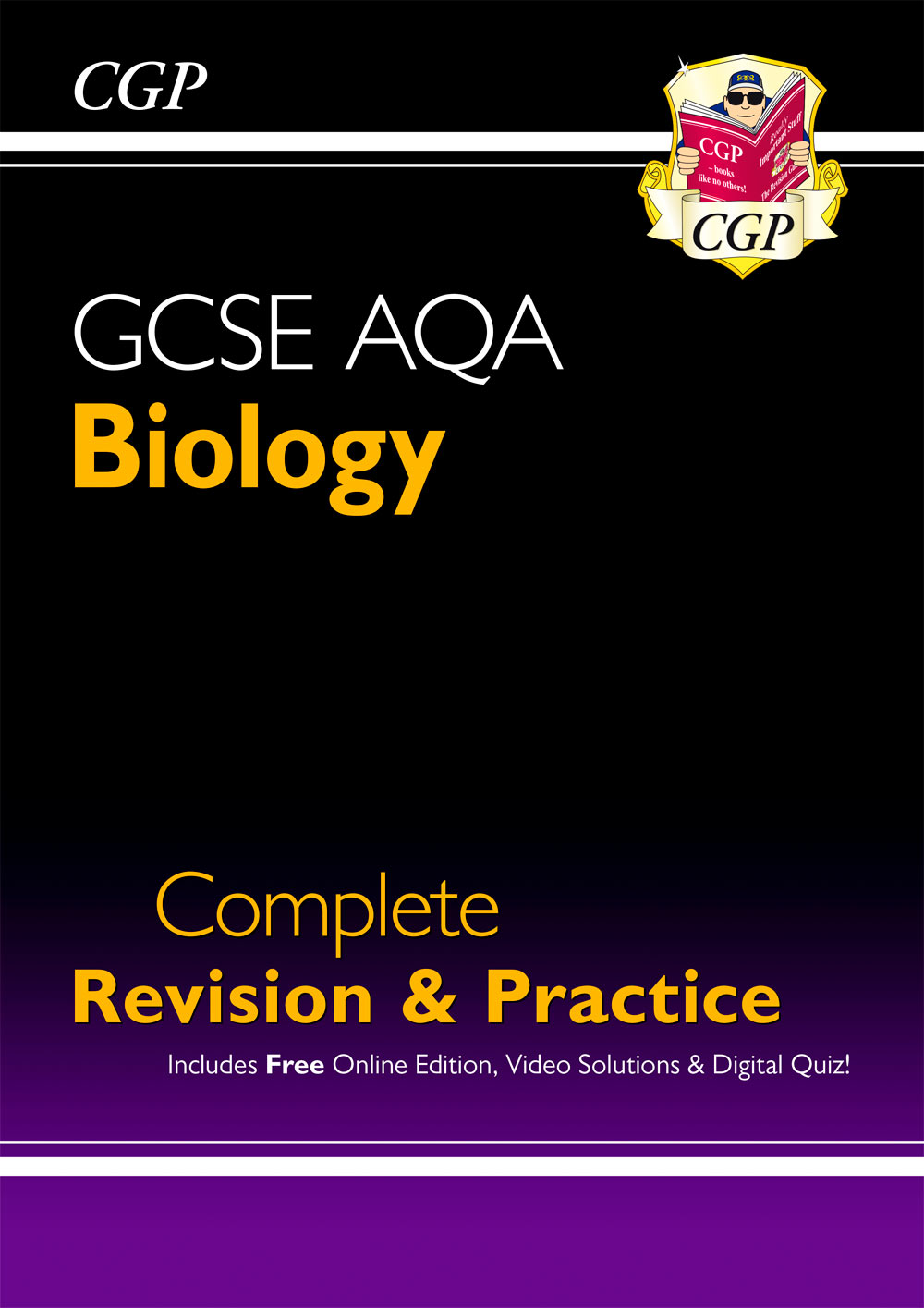 BAS46 - New GCSE Biology AQA Complete Revision & Practice includes Online Ed, Videos & Quizzes