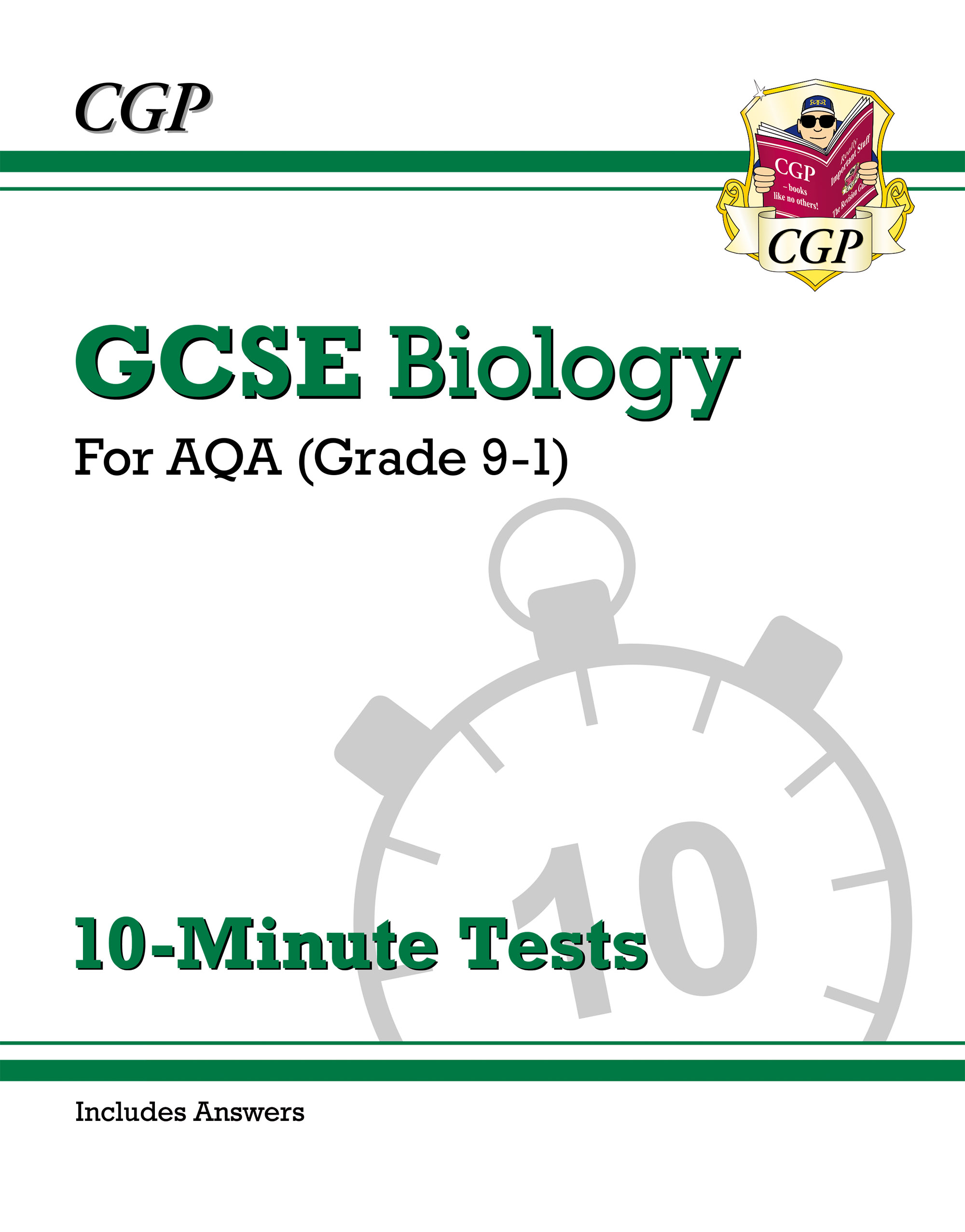 BAXP42DK - New Grade 9-1 GCSE Biology: AQA 10-Minute Tests (with answers)