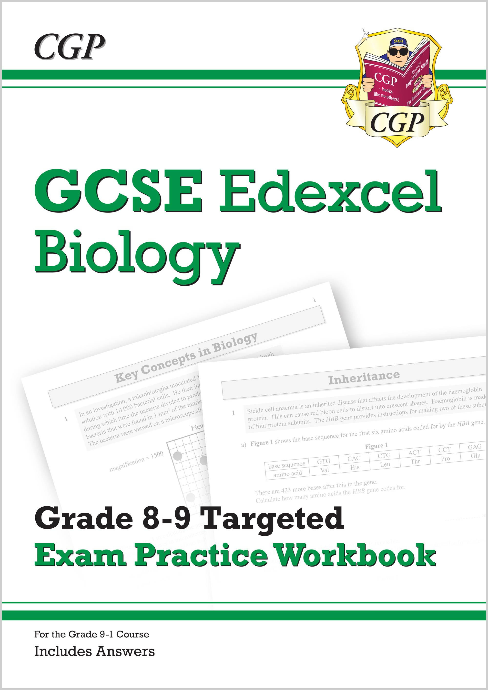 BE9Q41 - GCSE Biology Edexcel Grade 8-9 Targeted Exam Practice Workbook (includes Answers)
