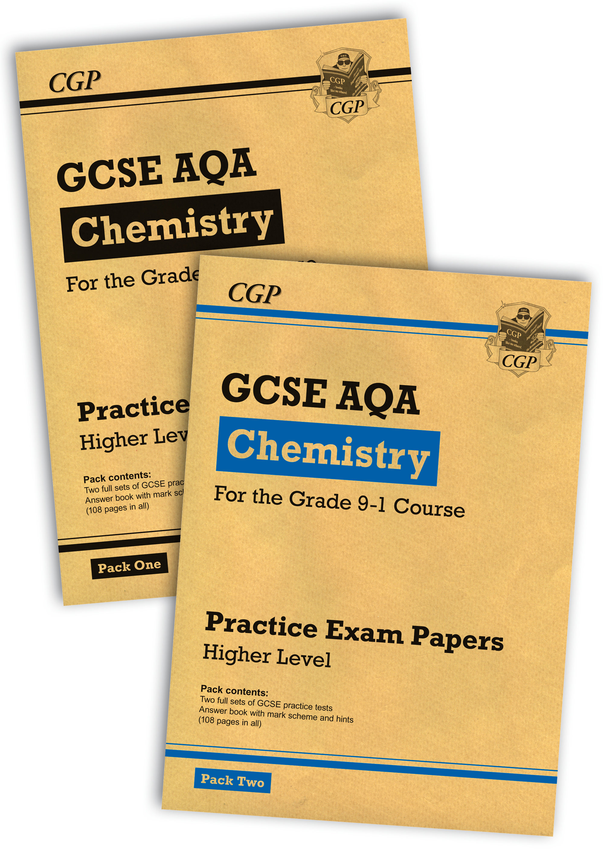 CAHBP41 - Grade 9-1 GCSE Chemistry AQA Practice Papers: Higher Pack 1 & 2 Bundle