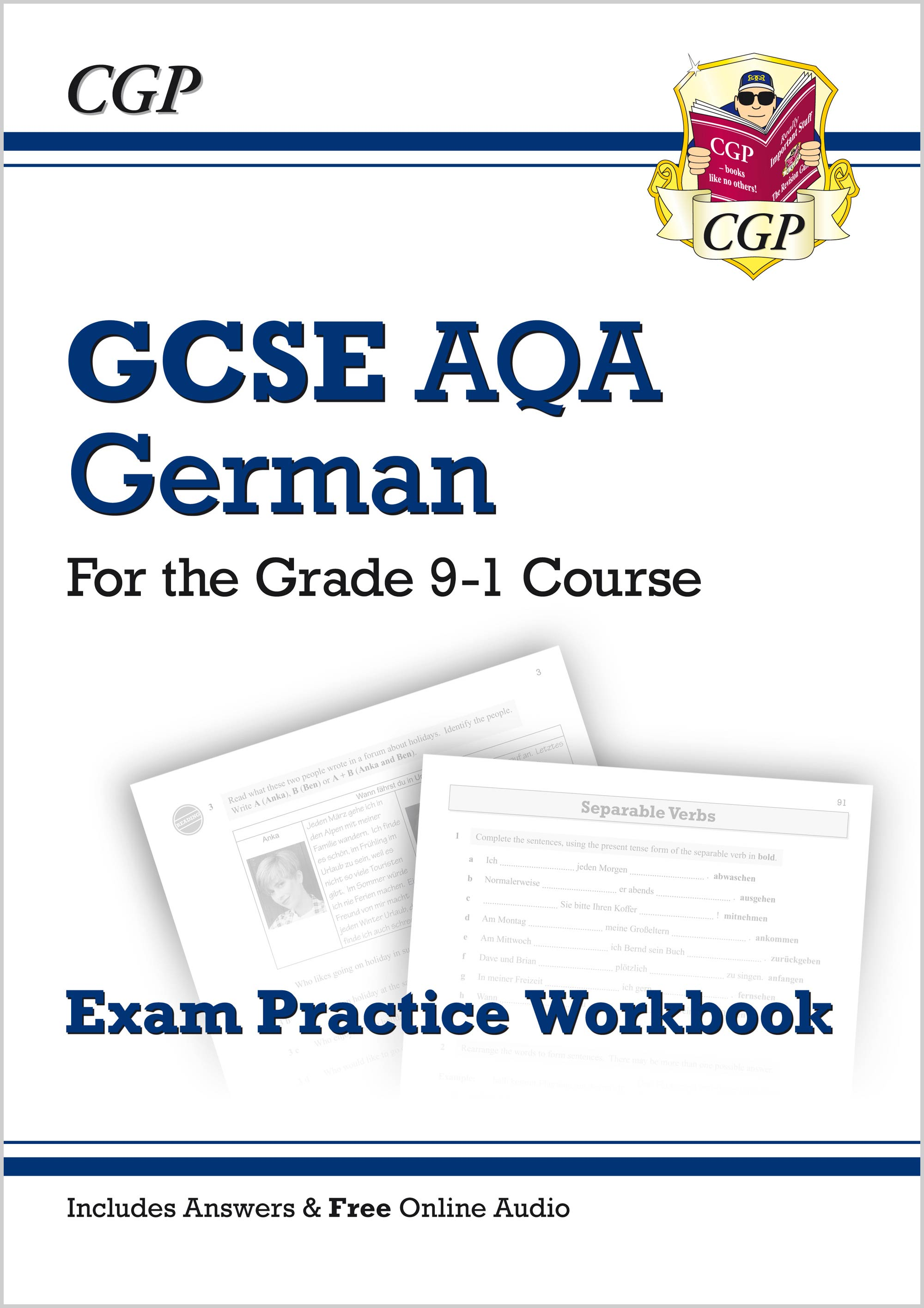 DAQ41 - New GCSE German AQA Exam Practice Workbook - for the Grade 9-1 Course (includes Answers)
