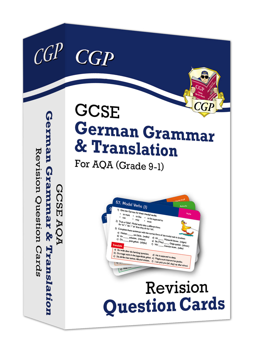 DATF41 - New Grade 9-1 GCSE AQA German: Grammar & Translation Revision Question Cards