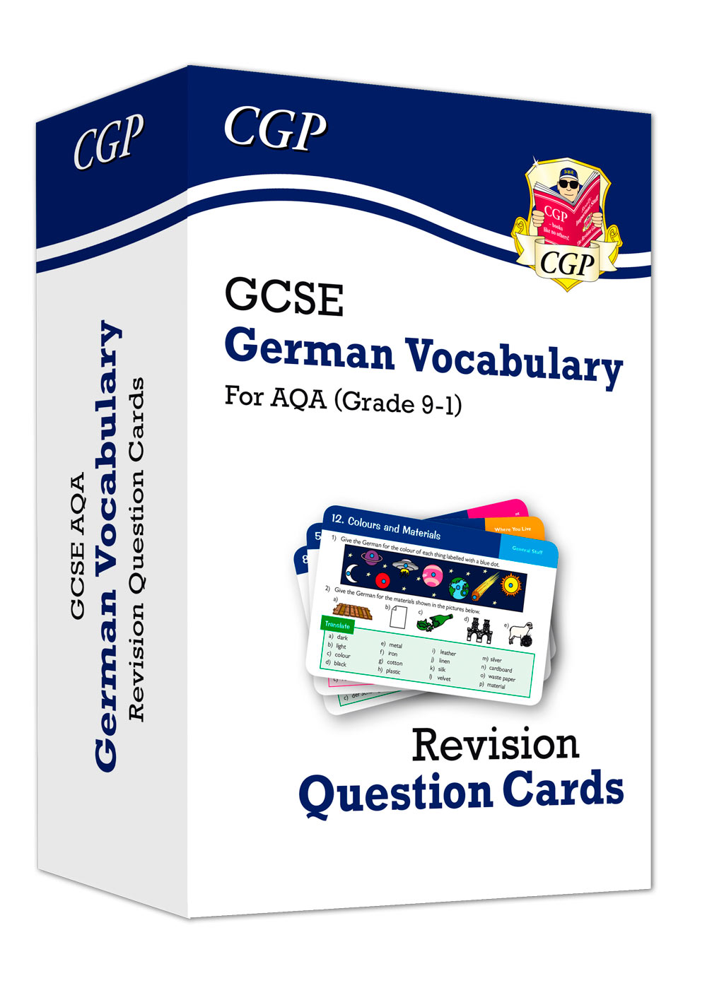 DAVF41 - New Grade 9-1 GCSE AQA German: Vocabulary Revision Question Cards