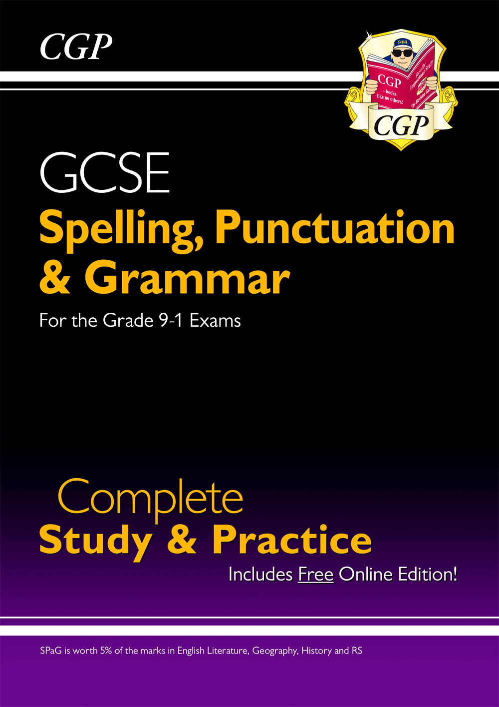 EGS43 - Spelling, Punctuation and Grammar for Grade 9-1 GCSE Complete Study & Practice (with Online