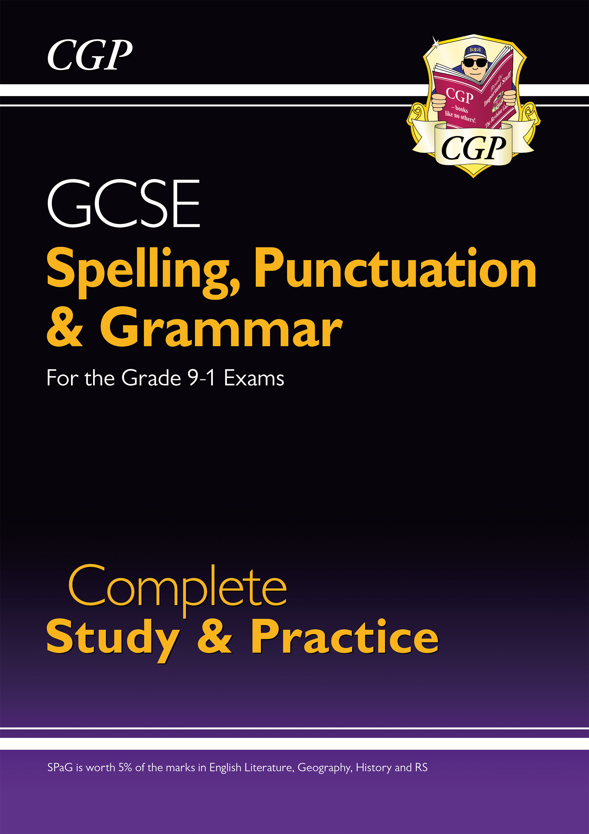 EGS43DK - Spelling, Punctuation and Grammar for Grade 9-1 GCSE Complete Study & Practice
