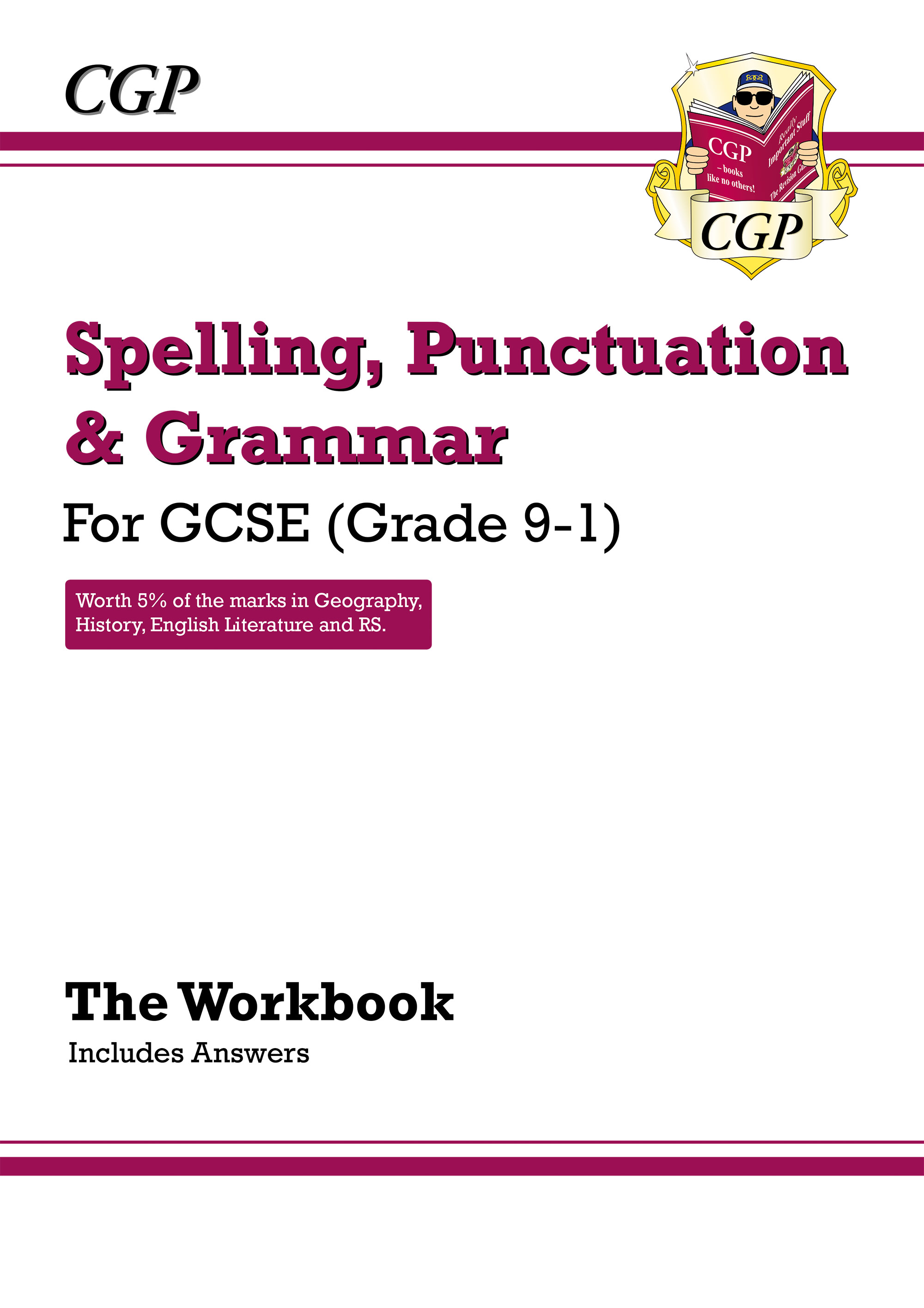 EGW42DK - Spelling, Punctuation and Grammar for Grade 9-1 GCSE Workbook (includes Answers)