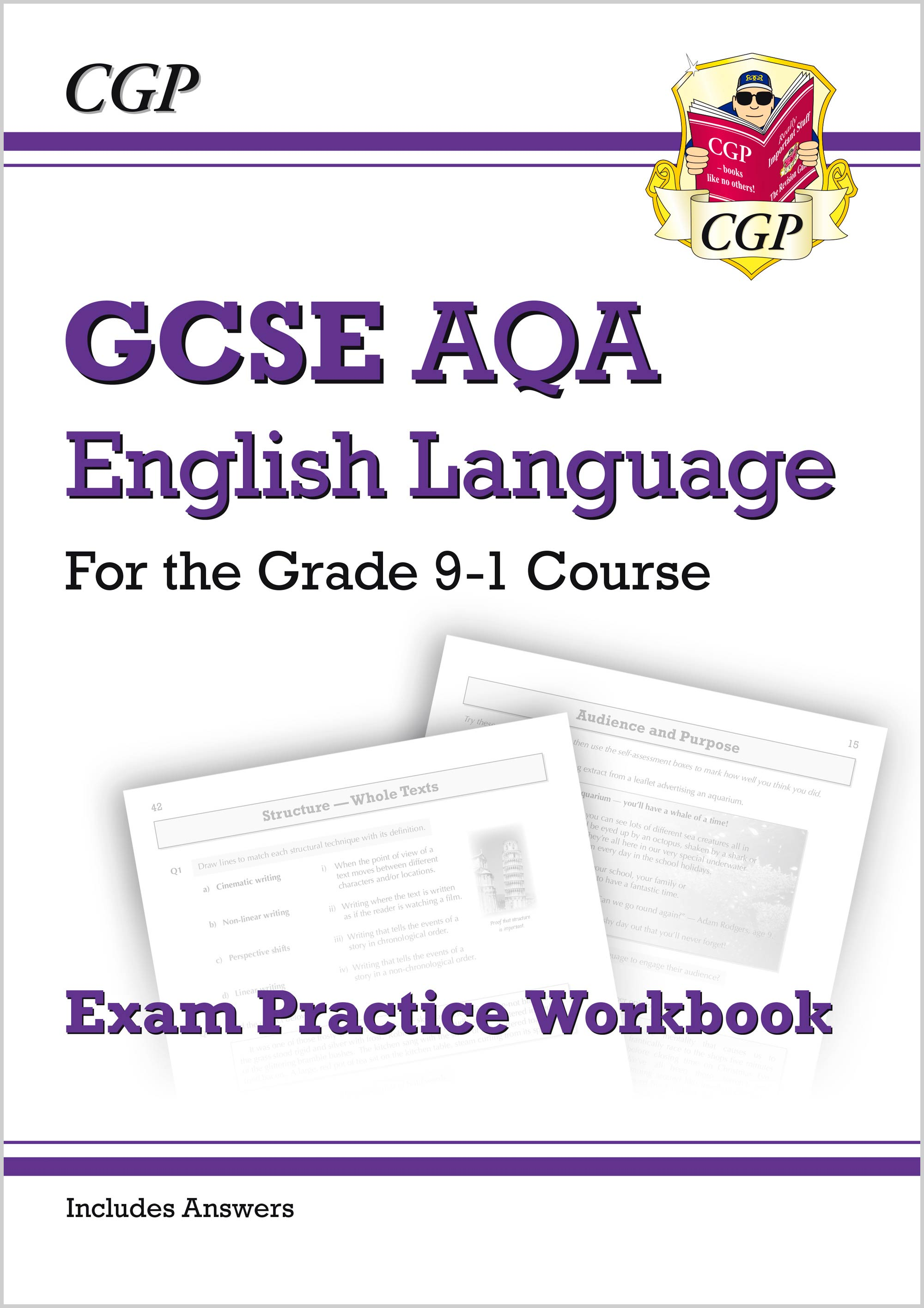ENAW41 - GCSE English Language AQA Exam Practice Workbook - for the Grade 9-1 Course (includes Answe