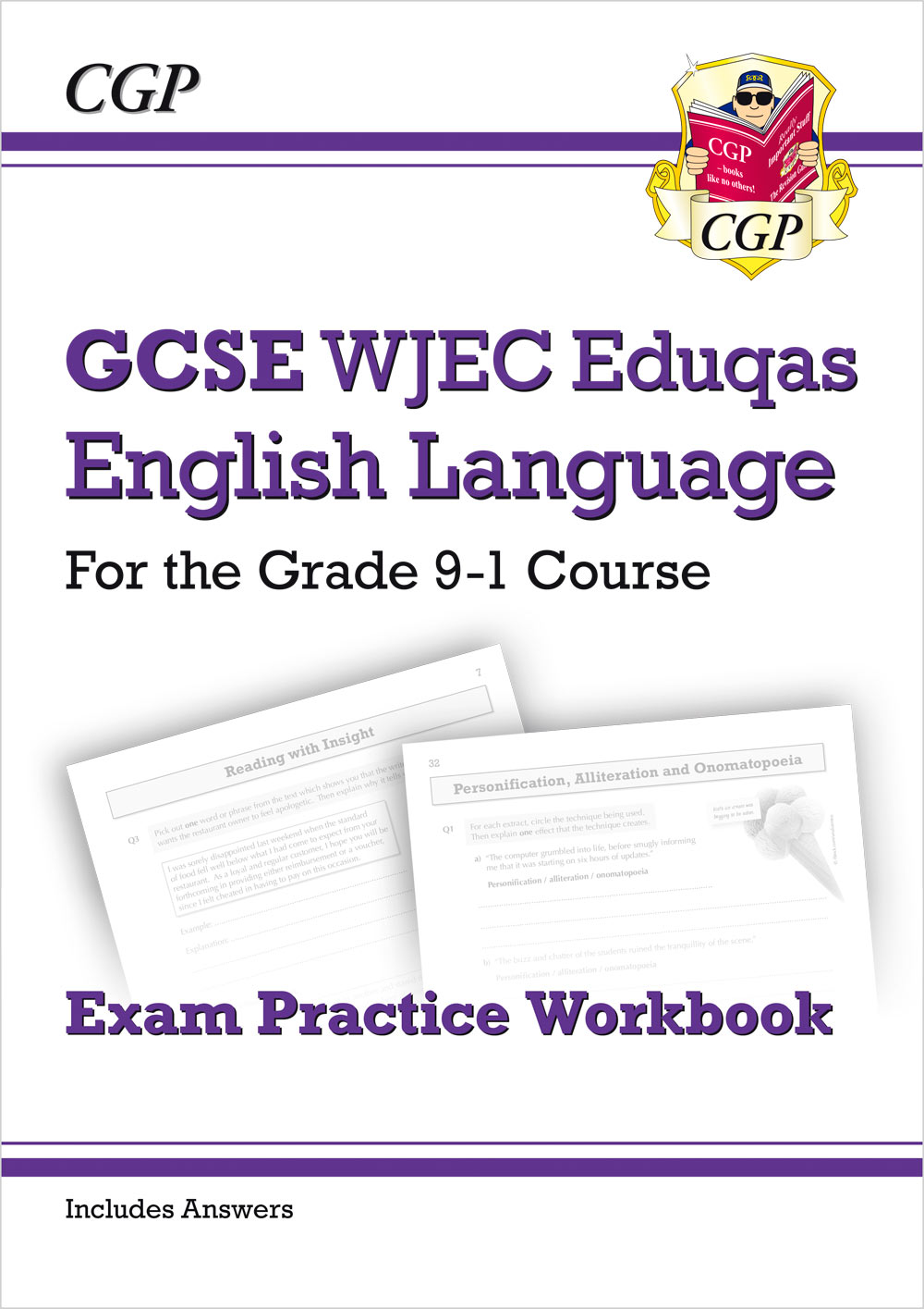 ENWW41 - GCSE English Language WJEC Eduqas Workbook - for the Grade 9-1 Course (includes Answers)
