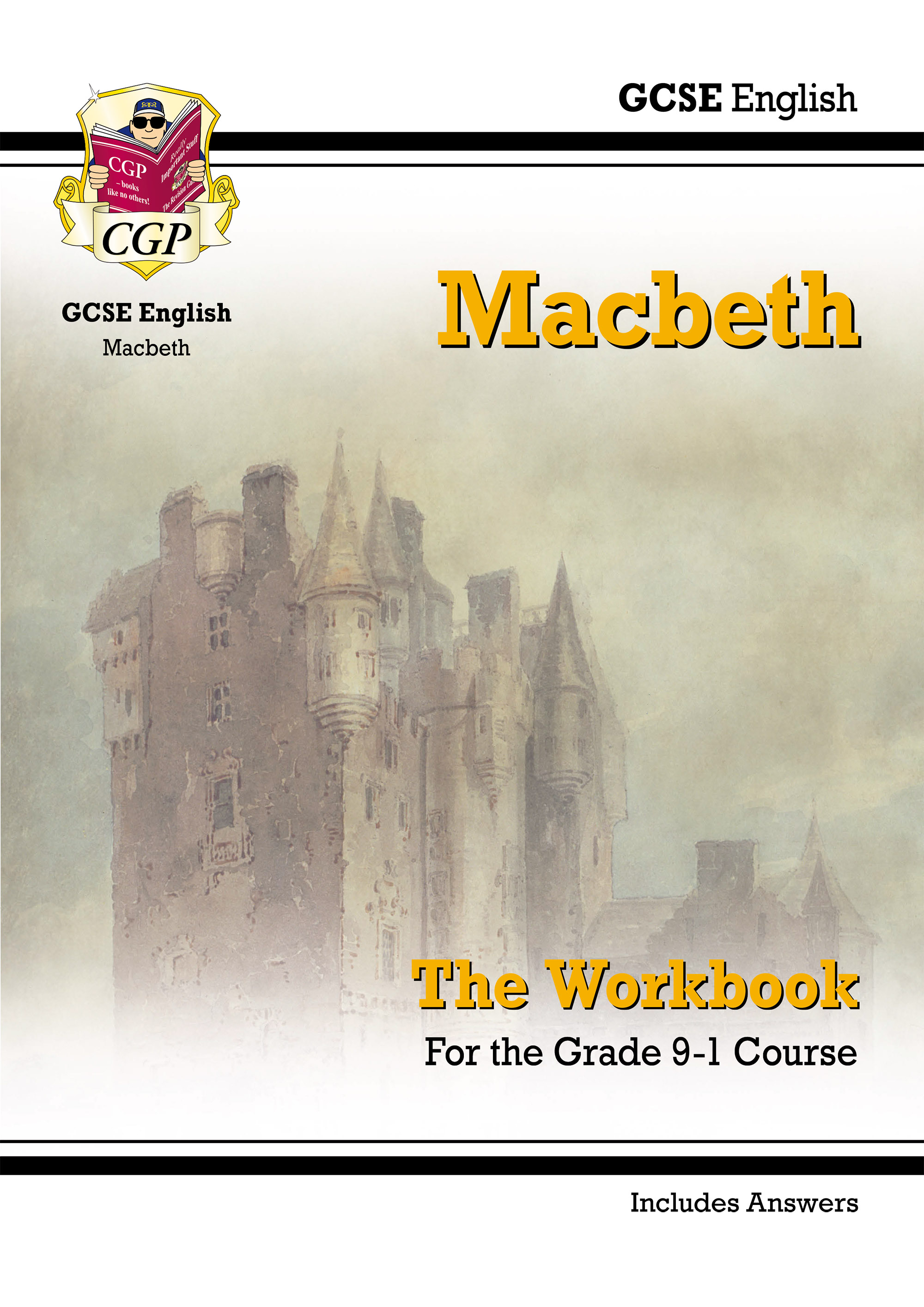 ETWM41DK - New Grade 9-1 GCSE English Shakespeare - Macbeth Workbook (includes Answers)