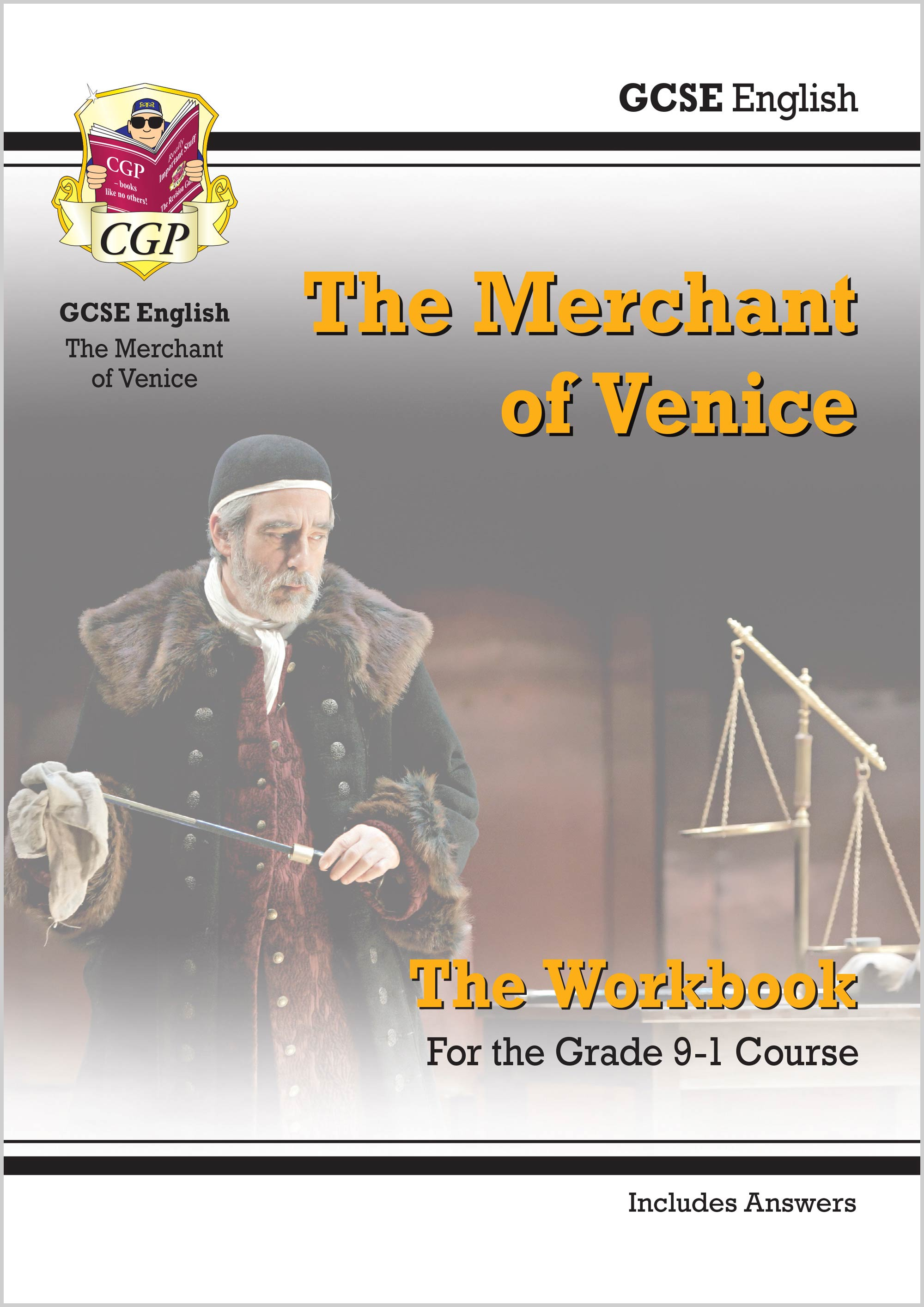 ETWMV41 - New Grade 9-1 GCSE English Shakespeare - The Merchant of Venice Workbook (includes Answers