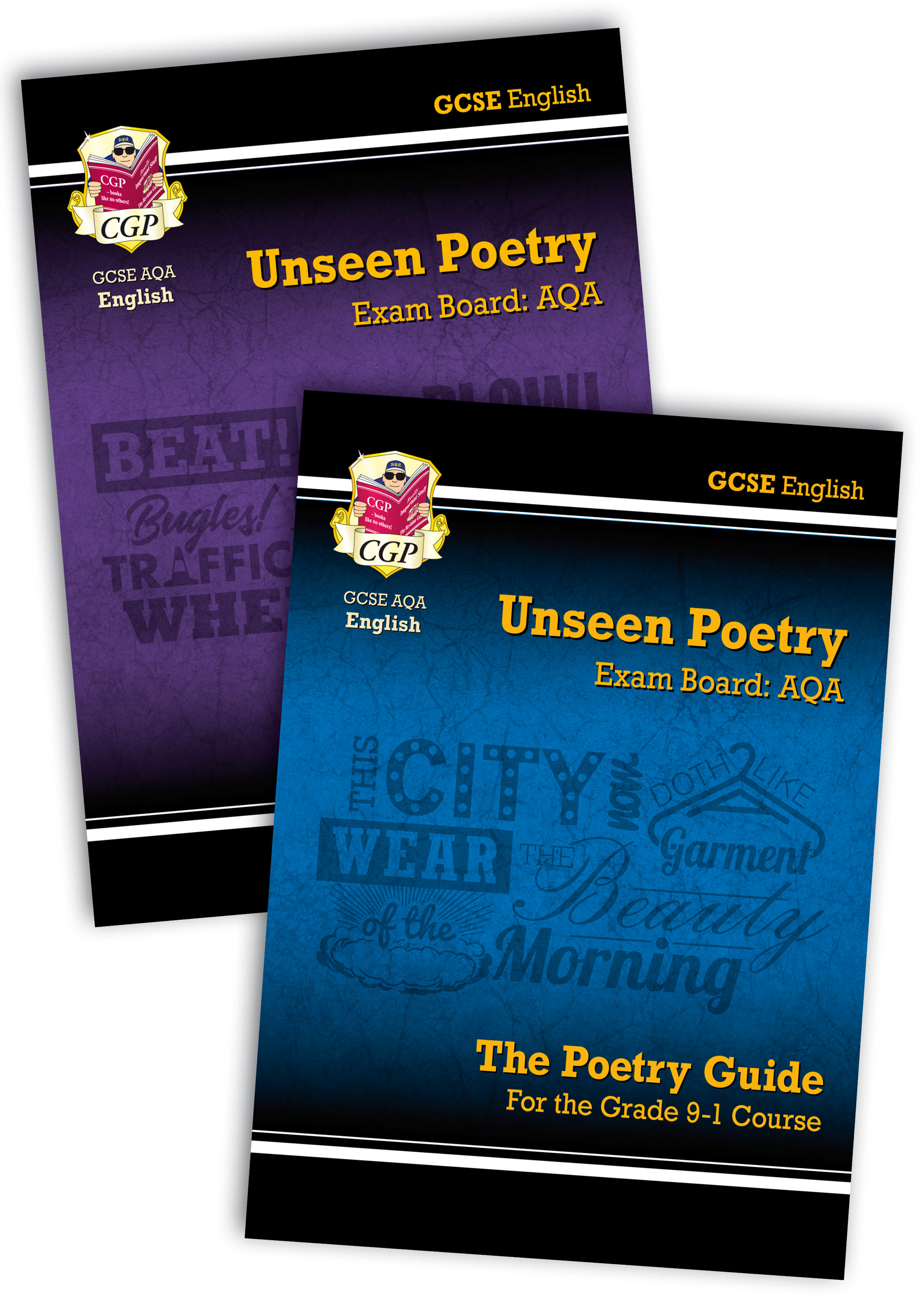 EUARB41 - New Grade 9-1 GCSE English Literature AQA Unseen Poetry Guide - Book 1 & 2 Bundle