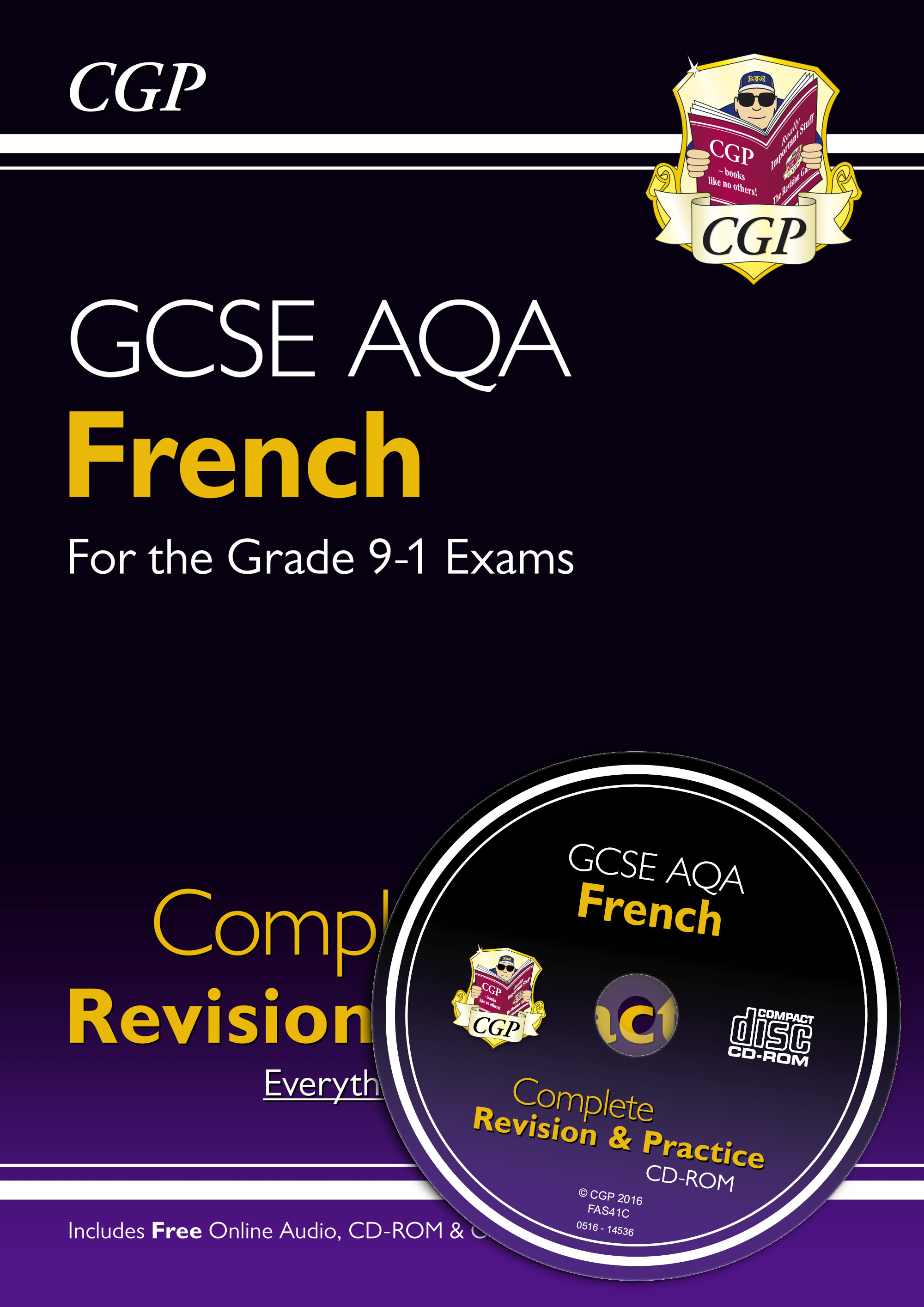 FAS41 - GCSE French AQA Complete Revision & Practice (with CD & Online Edition) - Grade 9-1 Course