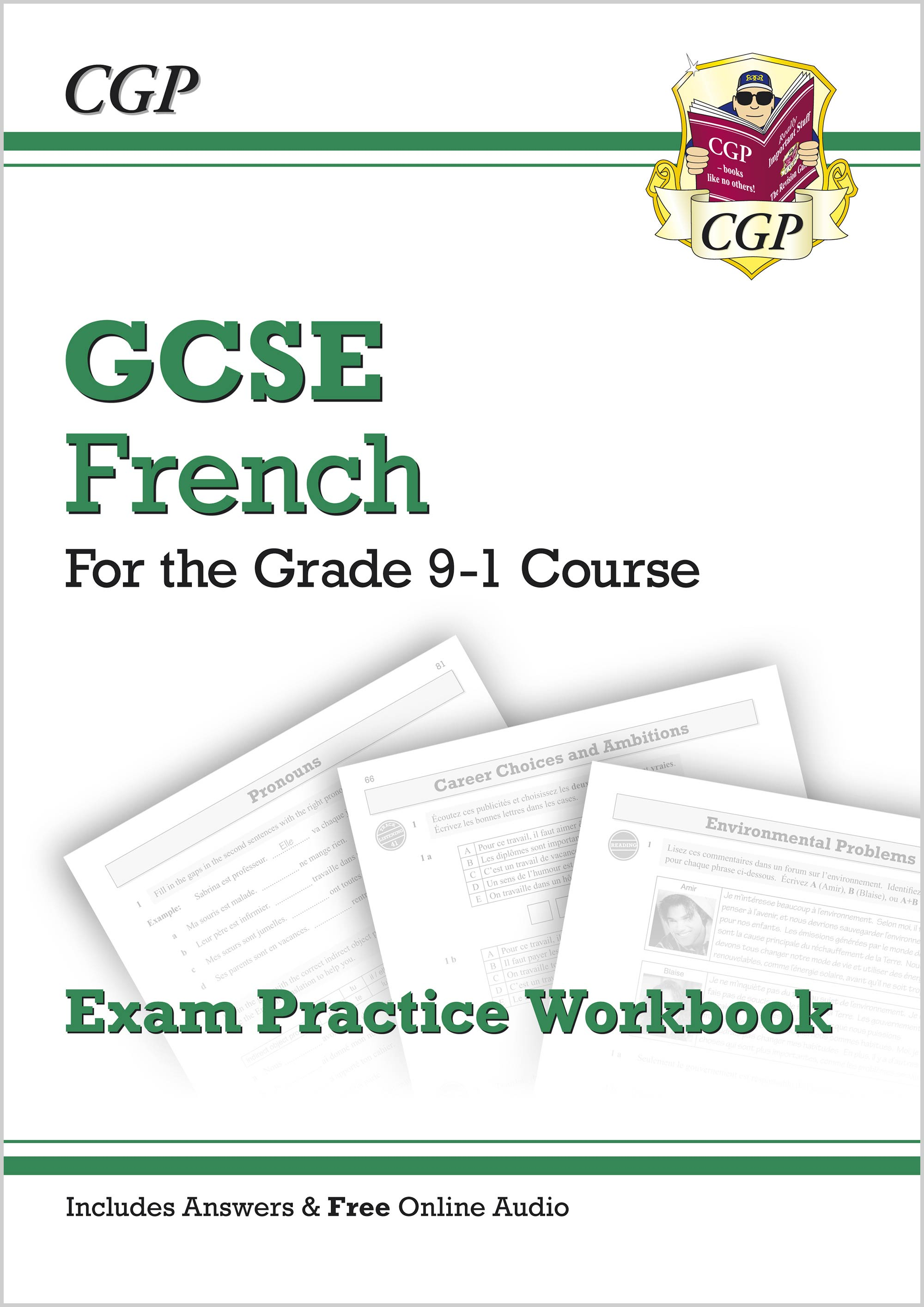 FHQ43 - New GCSE French Exam Practice Workbook - for the Grade 9-1 Course (includes Answers)