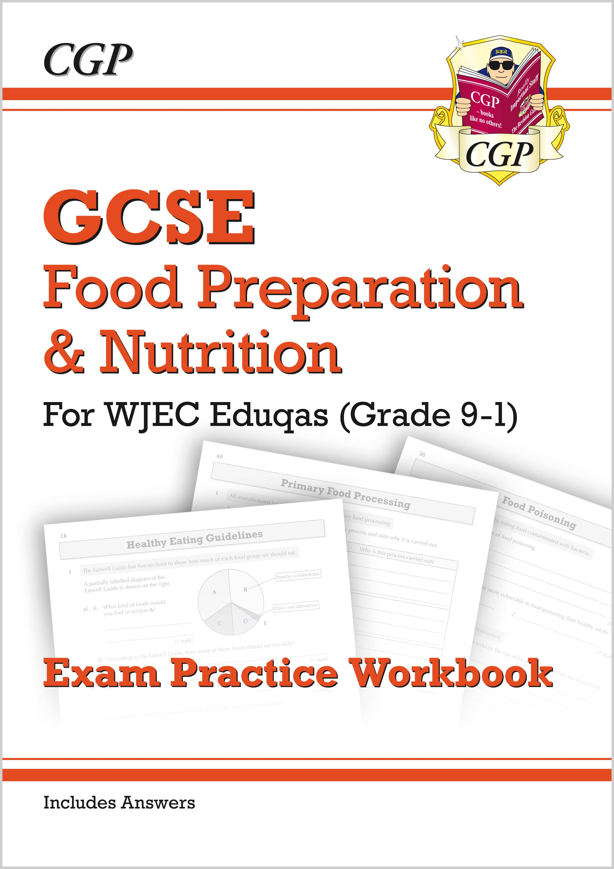 FNWQ41 - New Grade 9-1 GCSE Food Preparation & Nutrition - WJEC Eduqas Exam Practice Workbook (incl.