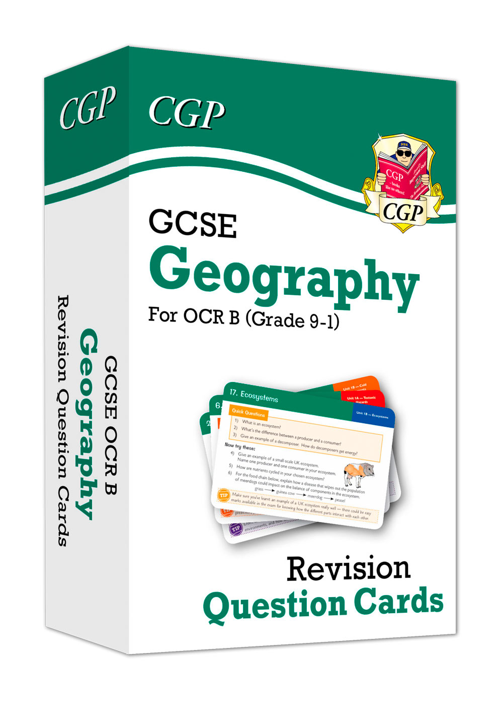 GRF41 - New Grade 9-1 GCSE Geography OCR B Revision Question Cards