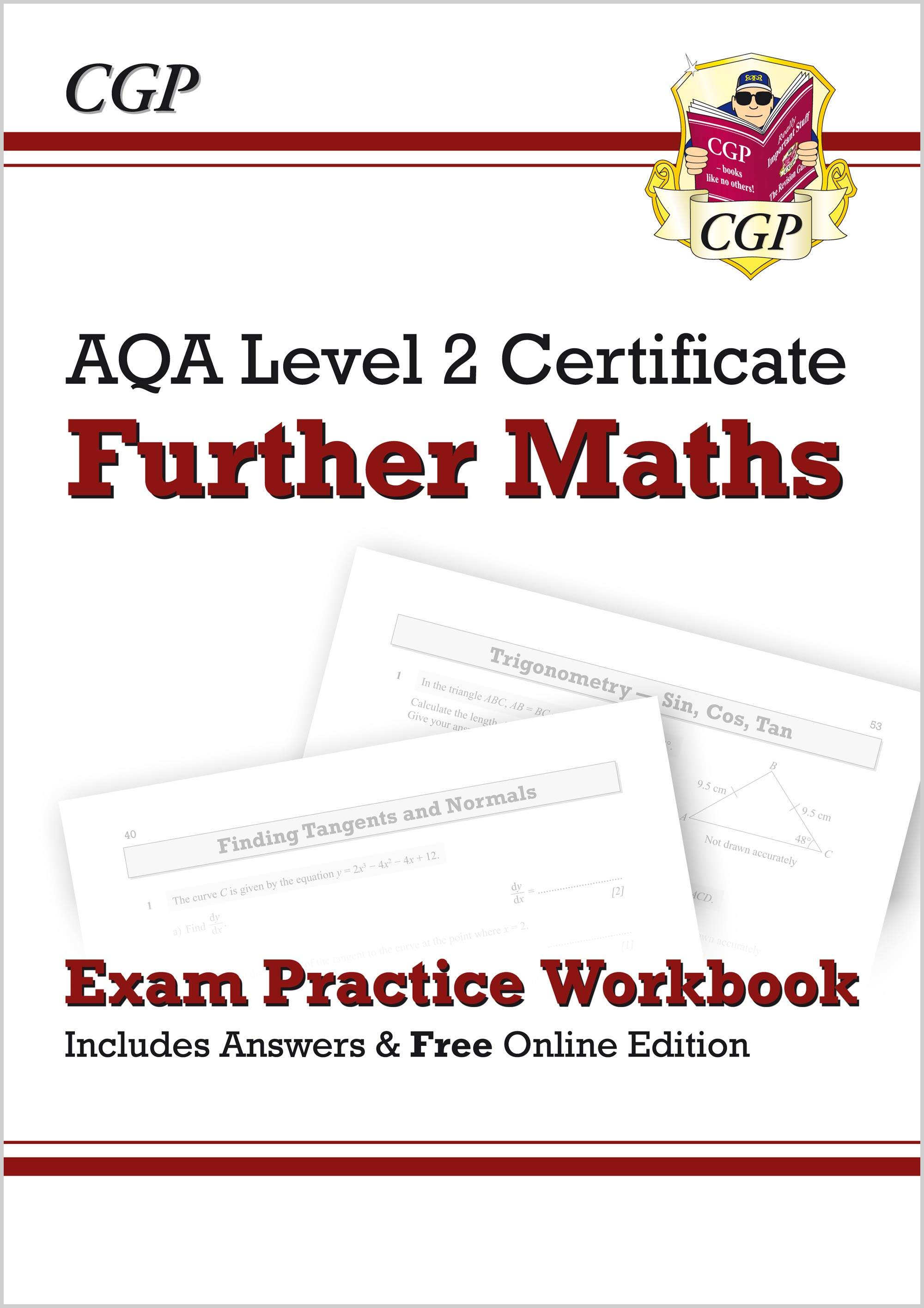 MAQI41 - AQA Level 2 Certificate in Further Maths - Exam Practice Workbook (with ans & online editio