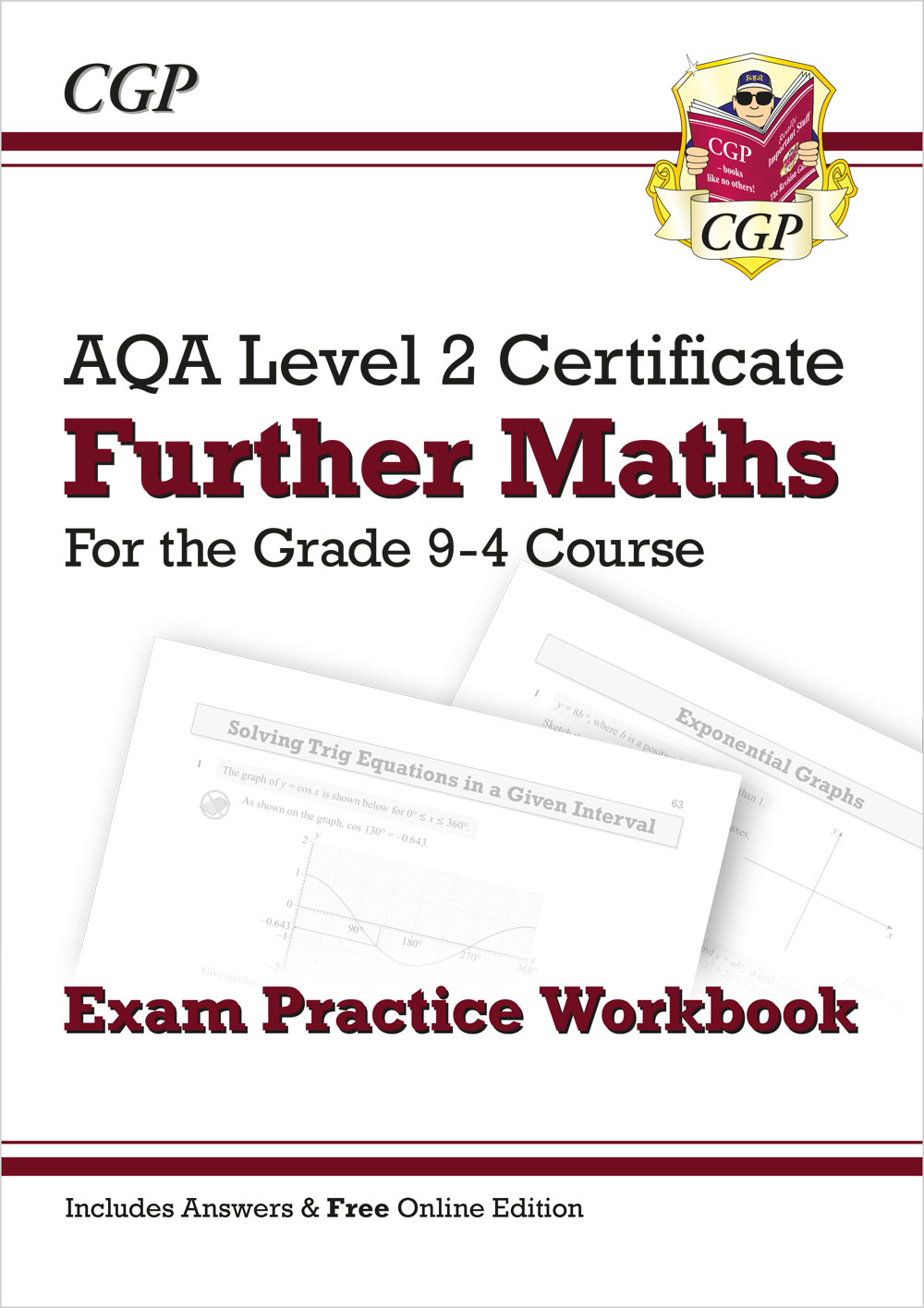 MAQI42 - Grade 9-4 AQA Level 2 Certificate: Further Maths - Exam Practice Workbook (with Ans & Onlin
