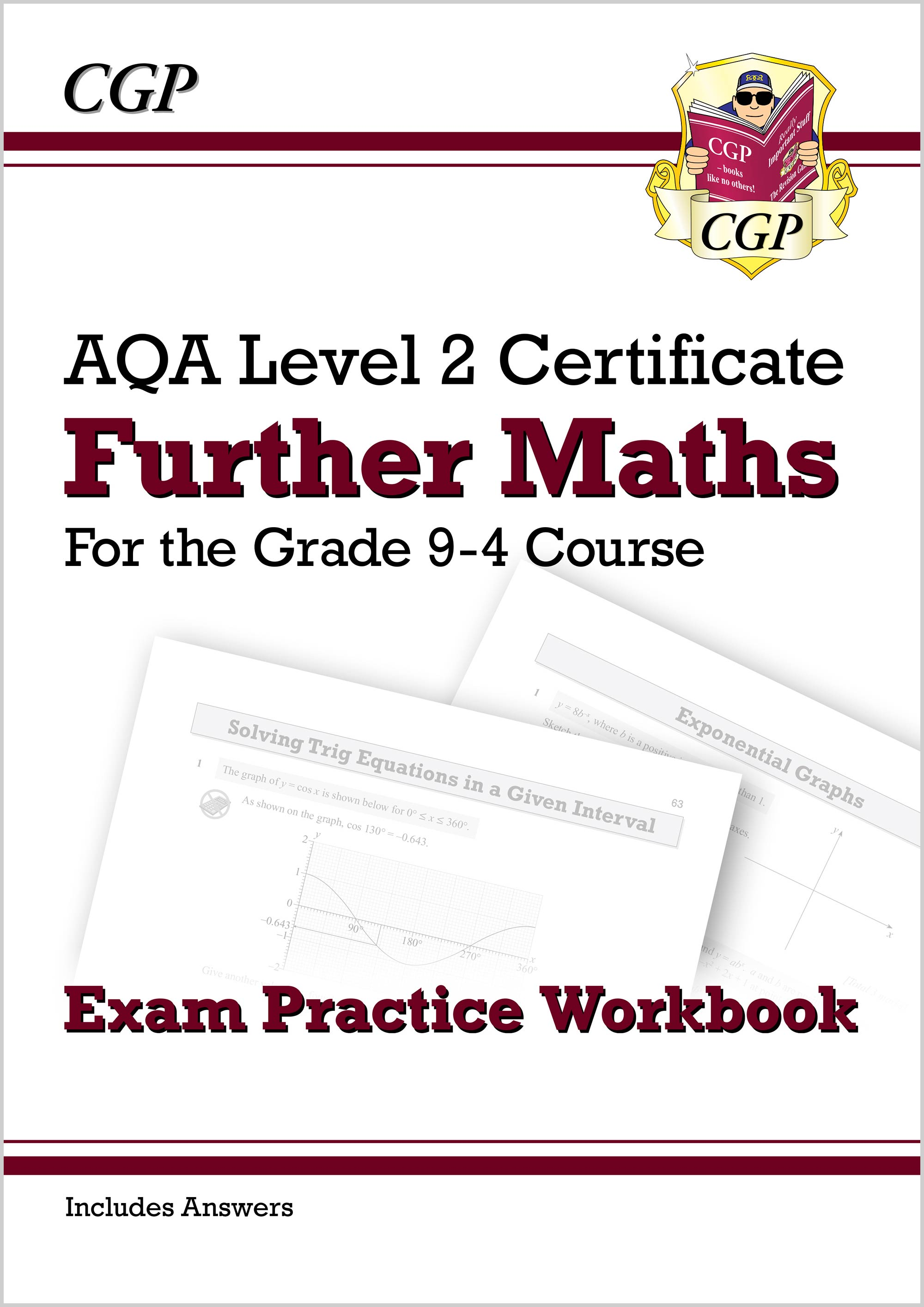 MAQI42DK - Grade 9-4 AQA Level 2 Certificate: Further Maths - Exam Practice Workbook (with Ans)