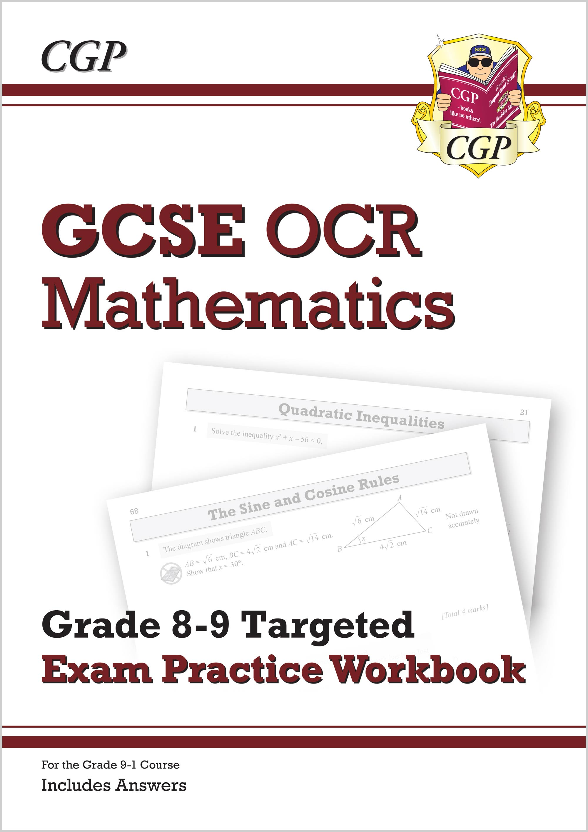MC9Q42 - New GCSE Maths OCR Grade 8-9 Targeted Exam Practice Workbook (includes Answers)