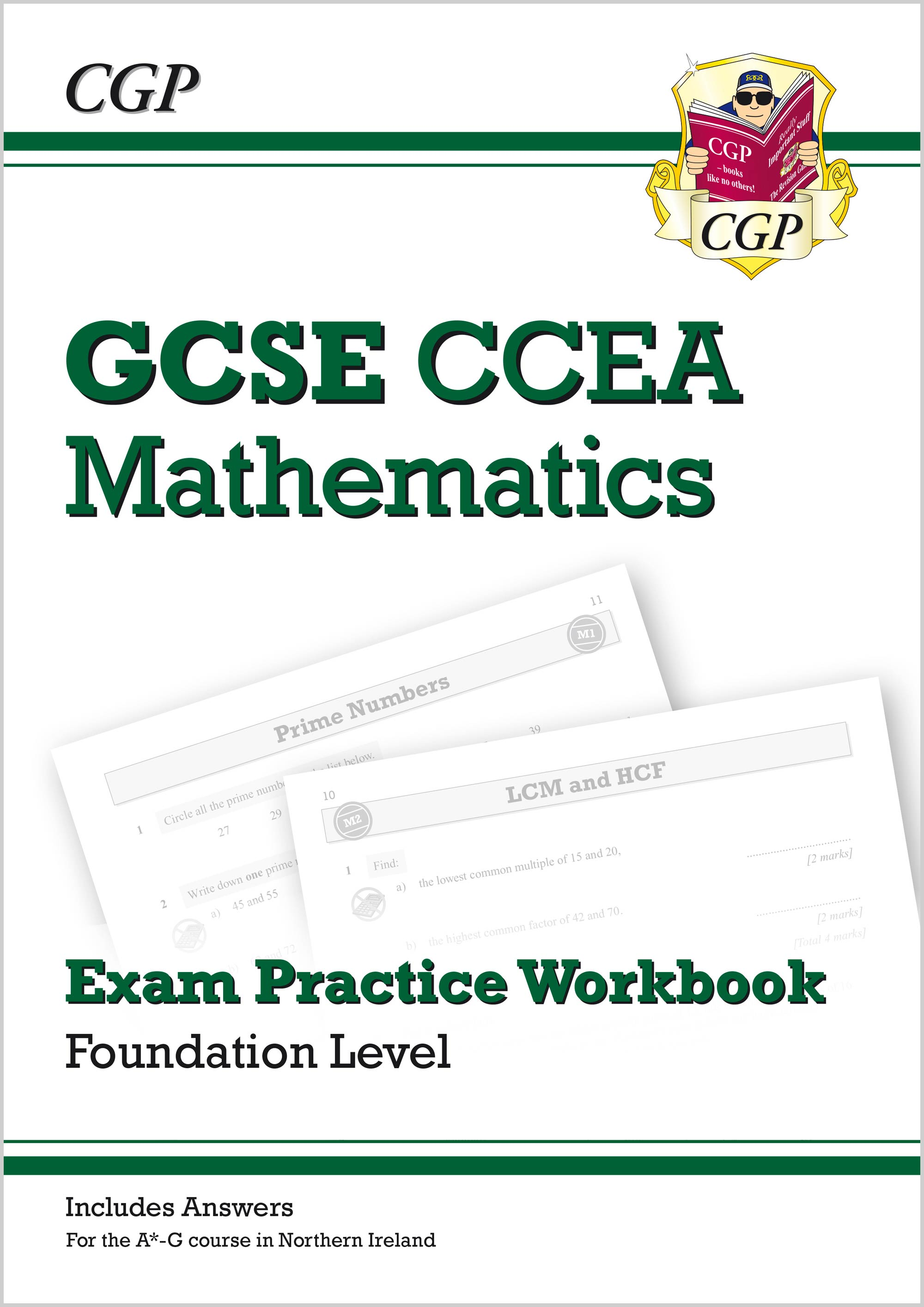 MCCFQ41 - New CCEA GCSE Maths Exam Practice Workbook: Foundation (includes Answers)