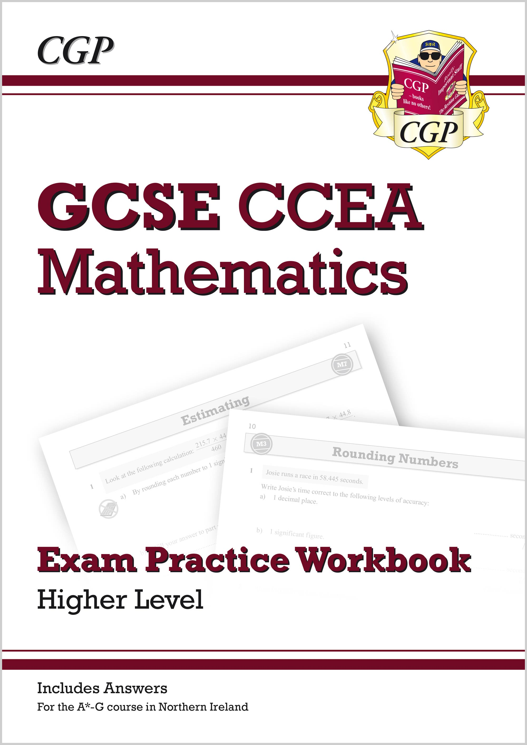 MCCHQ41 - New CCEA GCSE Maths Exam Practice Workbook: Higher (includes Answers)