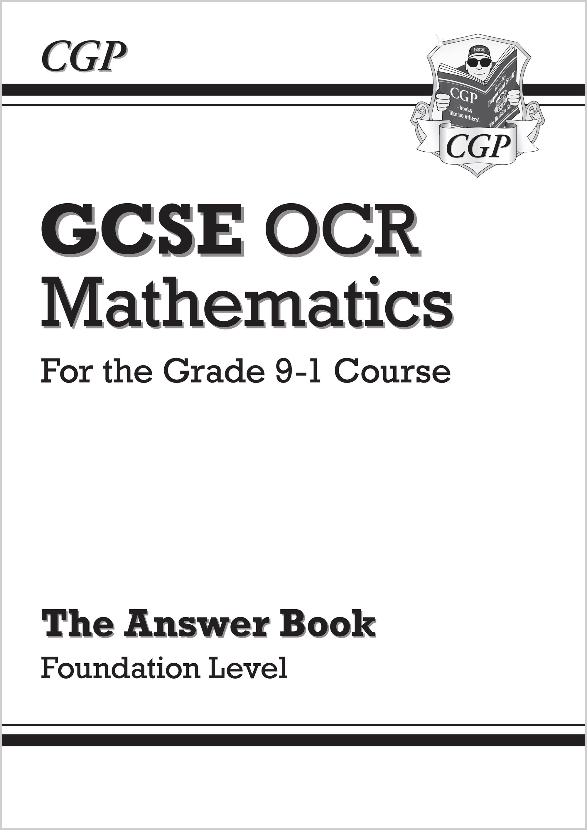 MCFA46 - GCSE Maths OCR Answers for Workbook: Foundation - for the Grade 9-1 Course