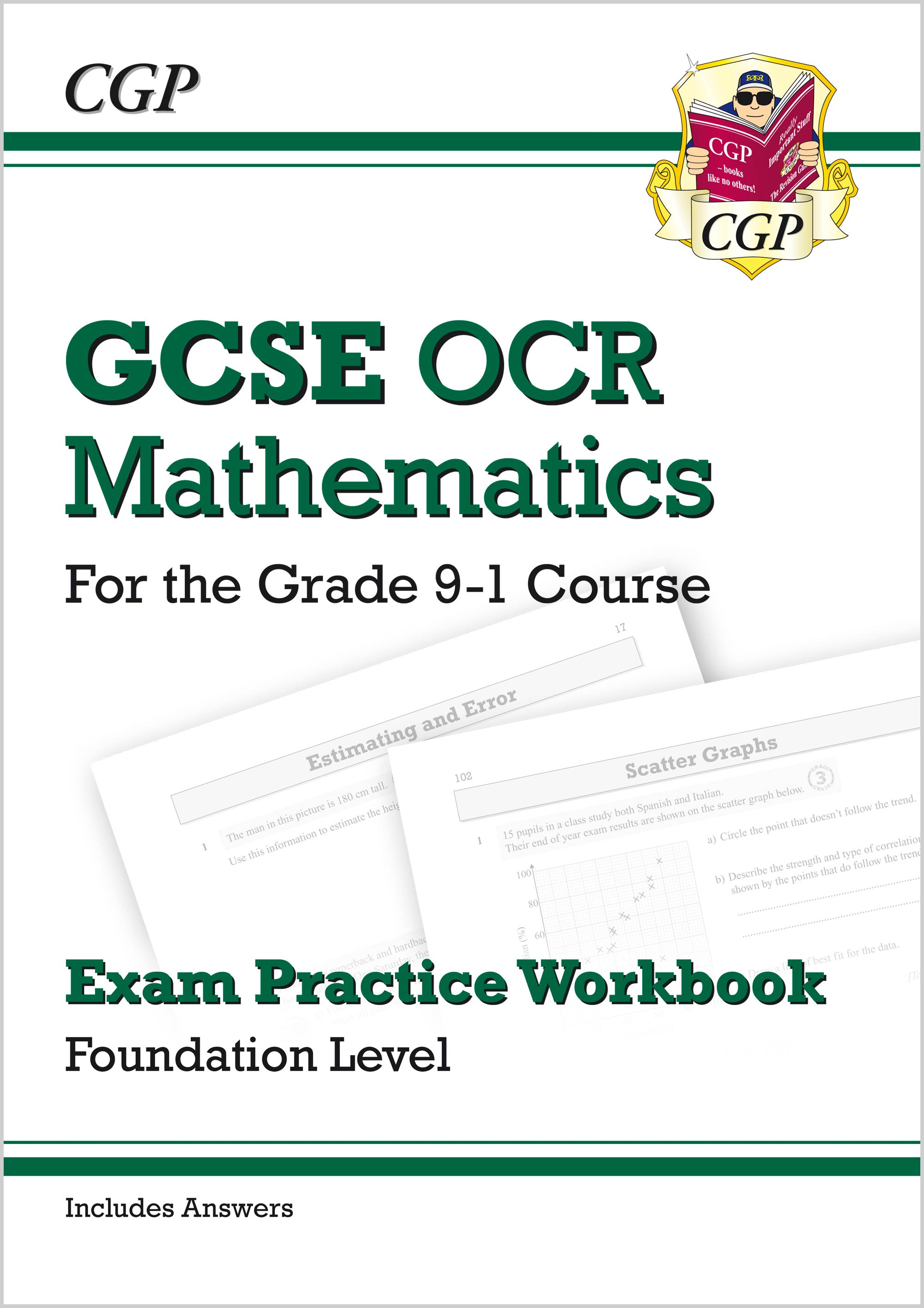MCFQ42 - GCSE Maths OCR Exam Practice Workbook: Foundation - for the Grade 9-1 Course (includes Answ