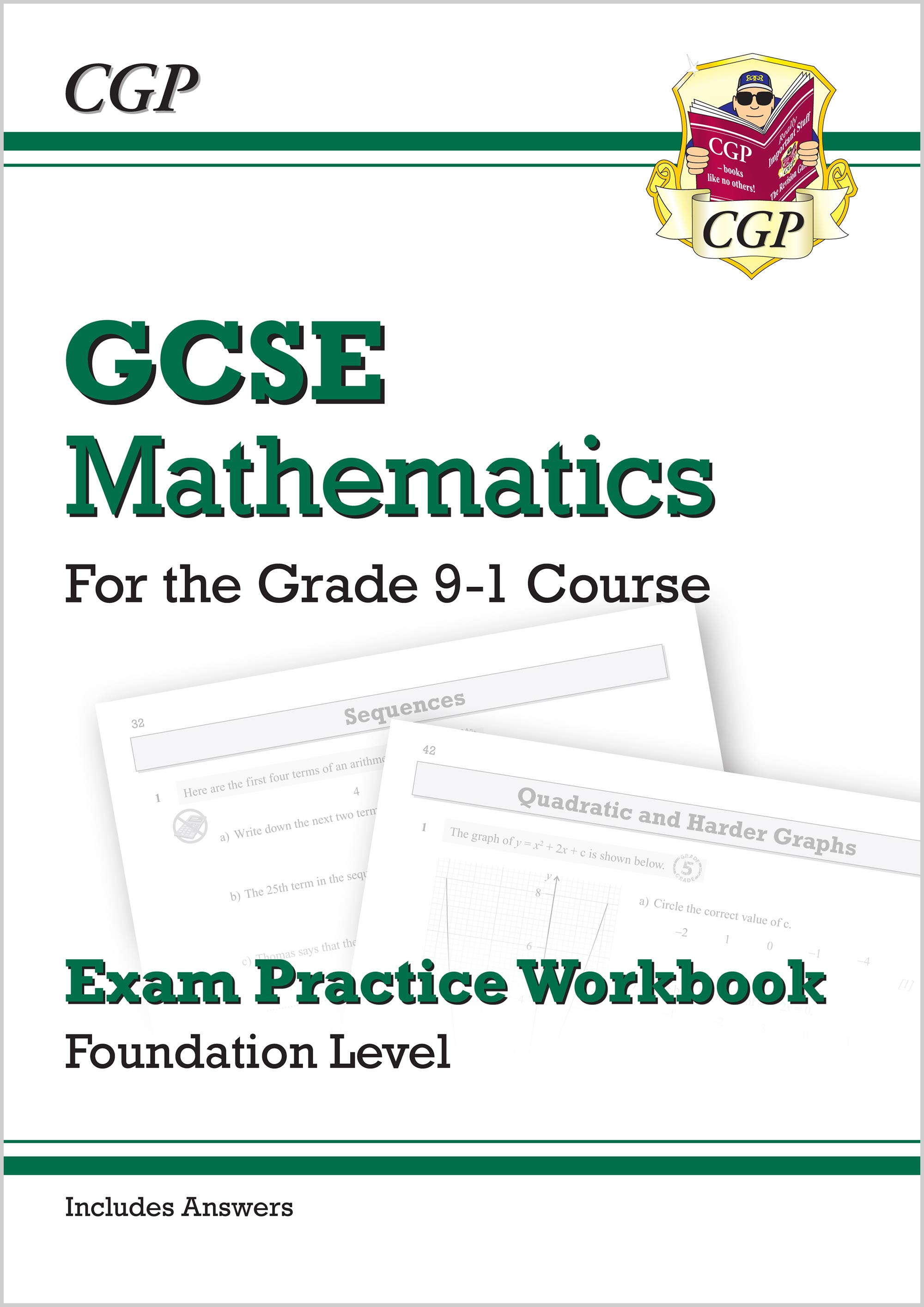MFQ46 - GCSE Maths Exam Practice Workbook: Foundation - for the Grade 9-1 Course (includes Answers)