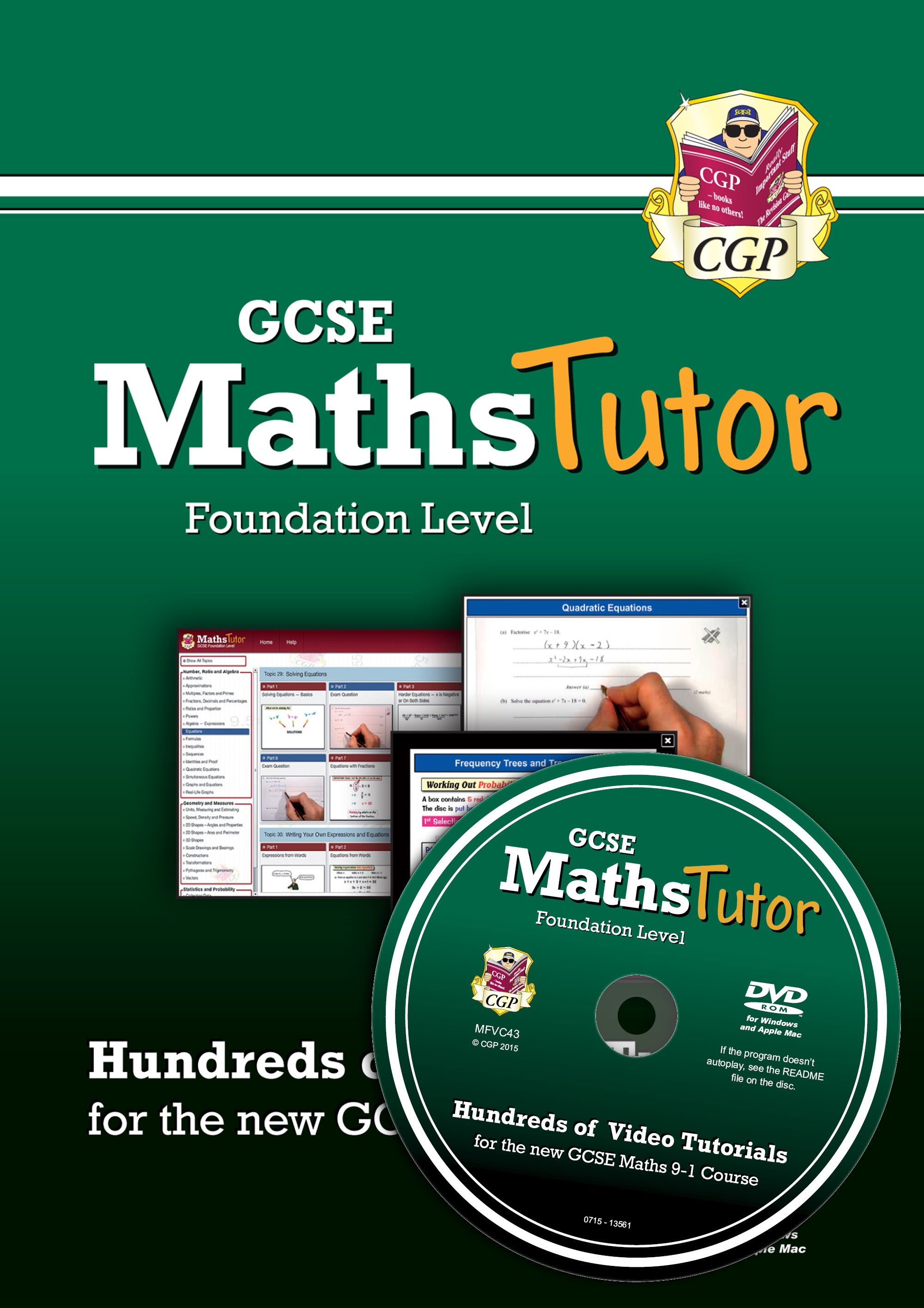 MFVC43 - MathsTutor: GCSE Maths Video Tutorials (Grade 9-1 Course) Foundation - DVD-ROM for PC/Mac