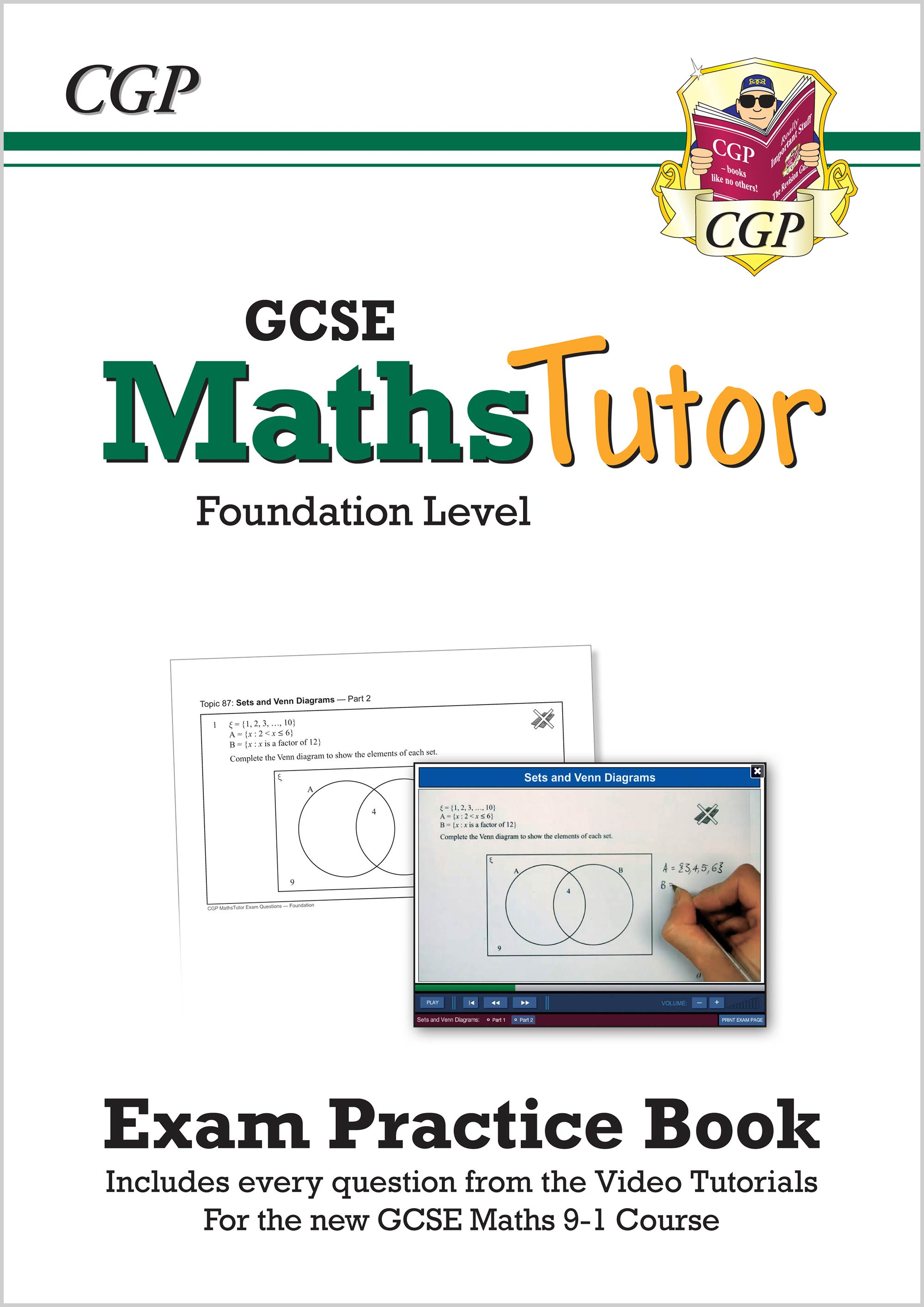 MFVW43 - MathsTutor: GCSE Exam Practice Book (for the Grade 9-1 Course) Foundation