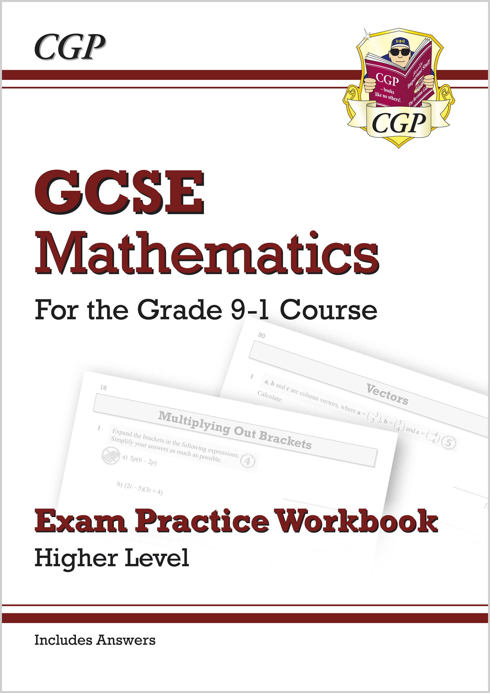 MHQ46 - GCSE Maths Exam Practice Workbook: Higher - for the Grade 9-1 Course (includes Answers)