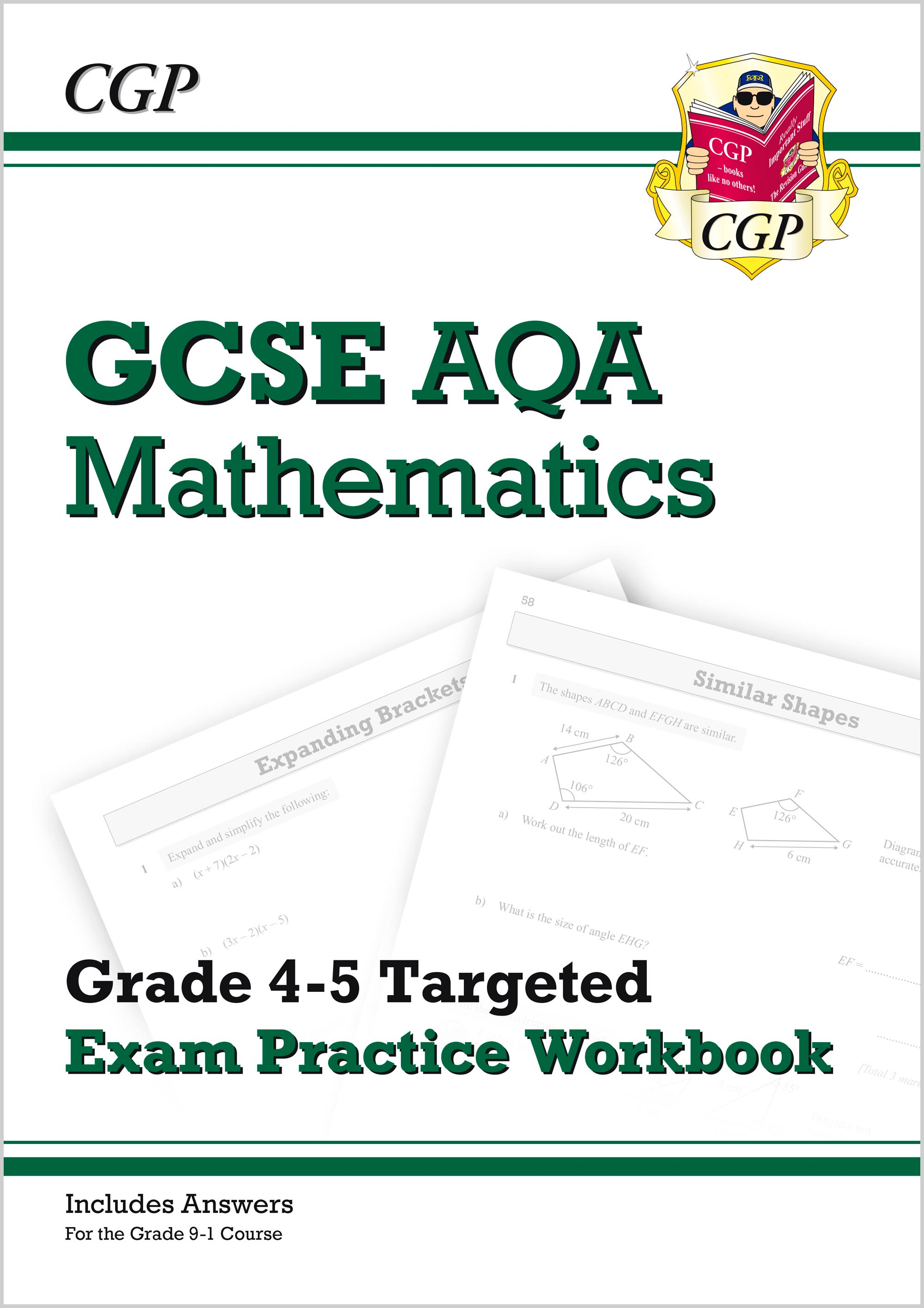 MQ5Q41 - GCSE Maths AQA Grade 4-5 Targeted Exam Practice Workbook (includes answers)