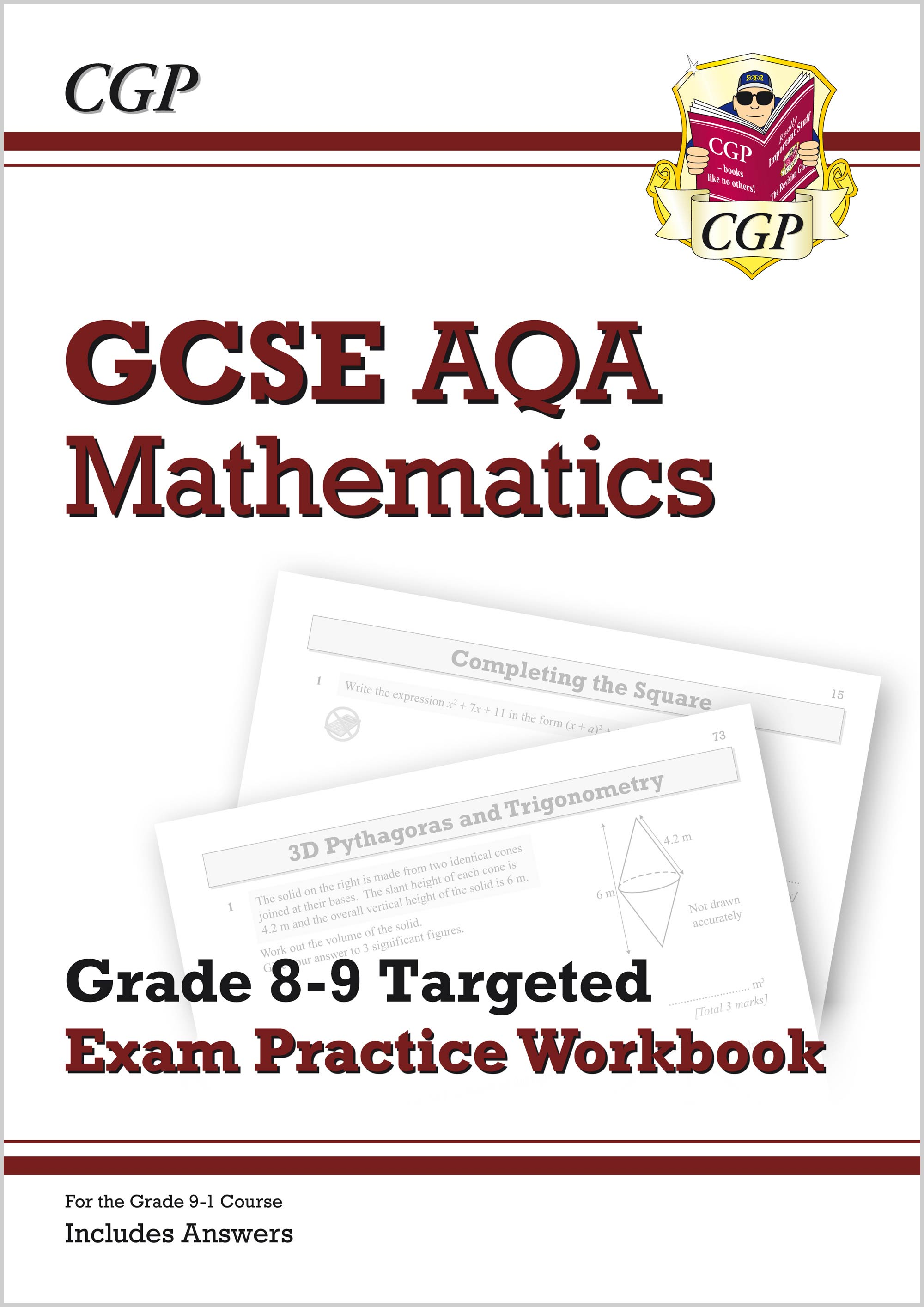 MQ9Q42 - New GCSE Maths AQA Grade 8-9 Targeted Exam Practice Workbook (includes Answers)
