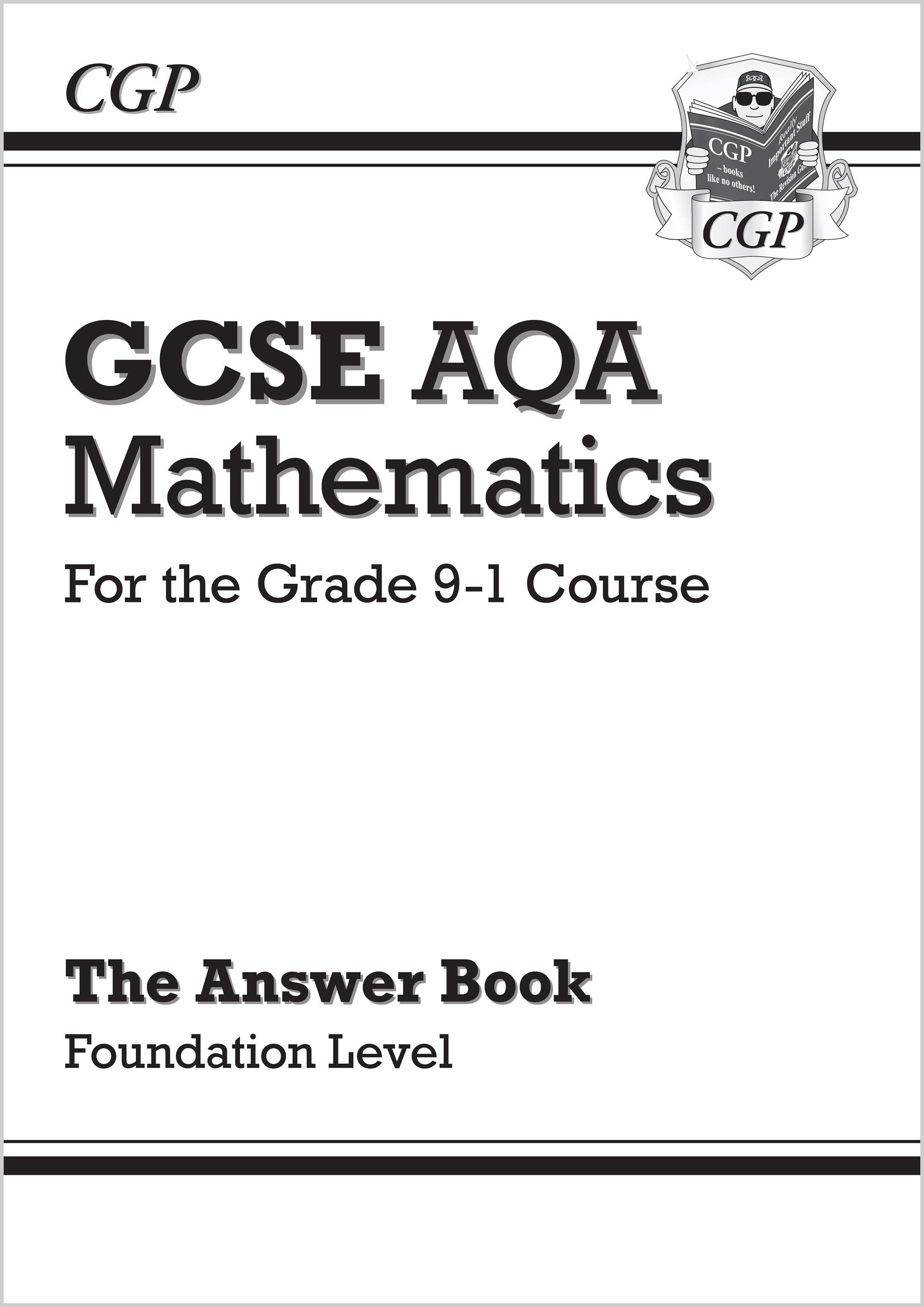 MQFA46 - GCSE Maths AQA Answers for Workbook: Foundation - for the Grade 9-1 Course