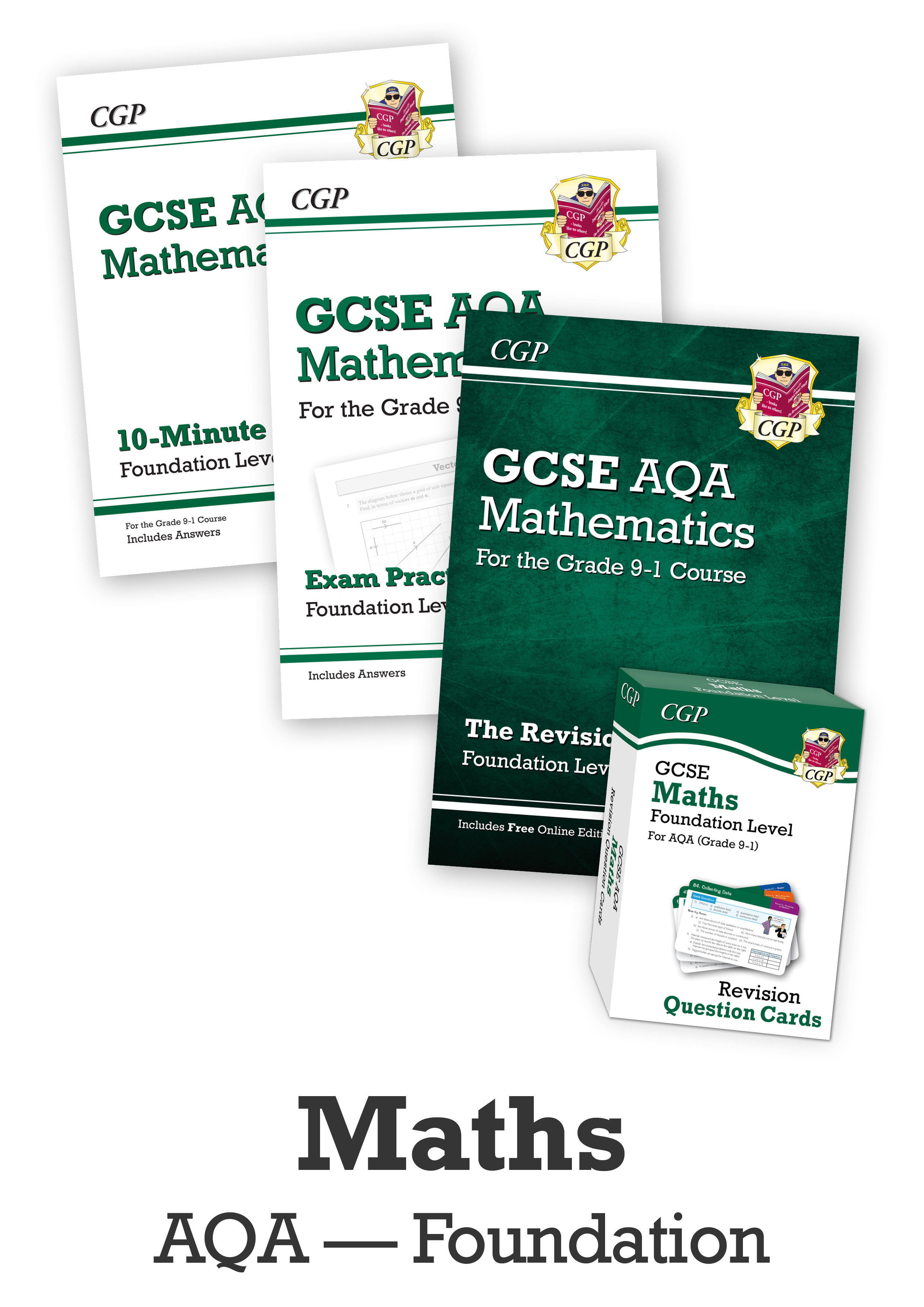MQFCUB41 - GCSE Catch-Up Revision Essentials Bundle: AQA Maths Foundation